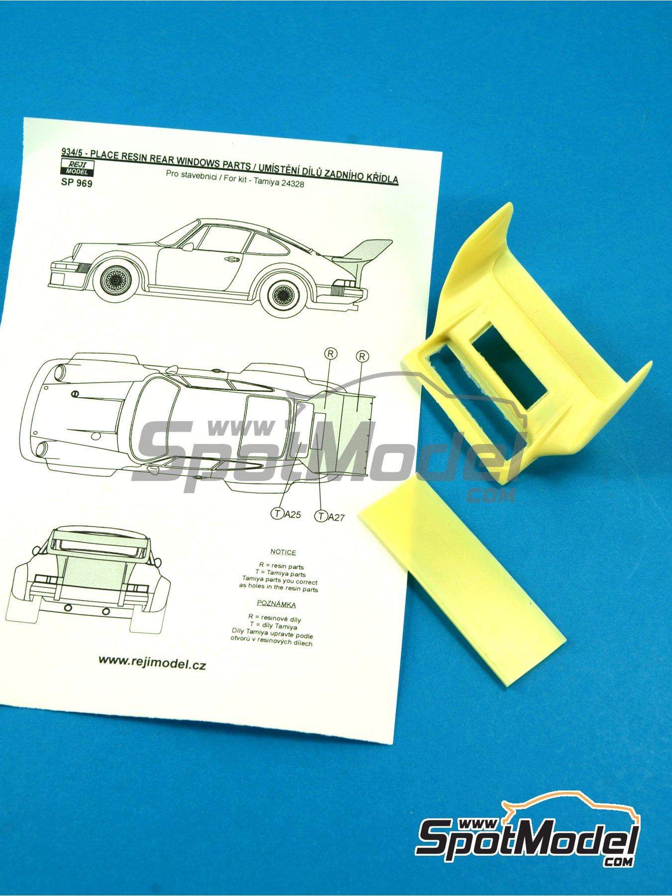 Porsche 934/5 rear spoiler - aleron trasero | Transkit en escala1/24 fabricado por Reji Model (ref.REJI-SP969) image