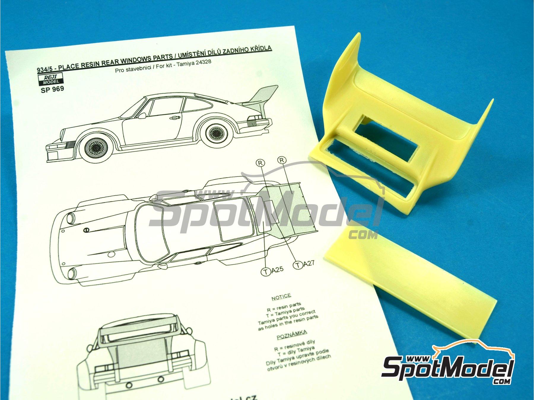 Image 5: Porsche 934/5 rear spoiler - aleron trasero | Transkit en escala1/24 fabricado por Reji Model (ref.REJI-SP969)