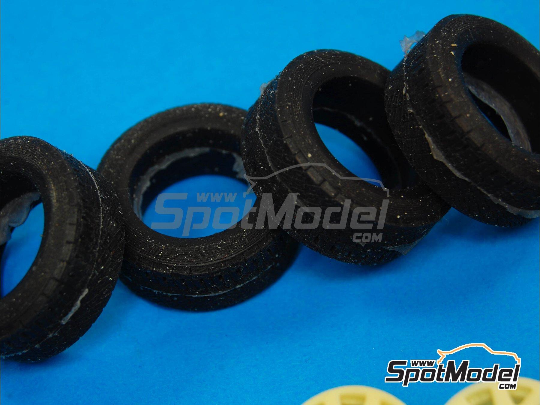 Image 3: OZ Racing | Set de llantas y neumáticos en escala1/24 fabricado por Reji Model (ref.REJI-SP973)