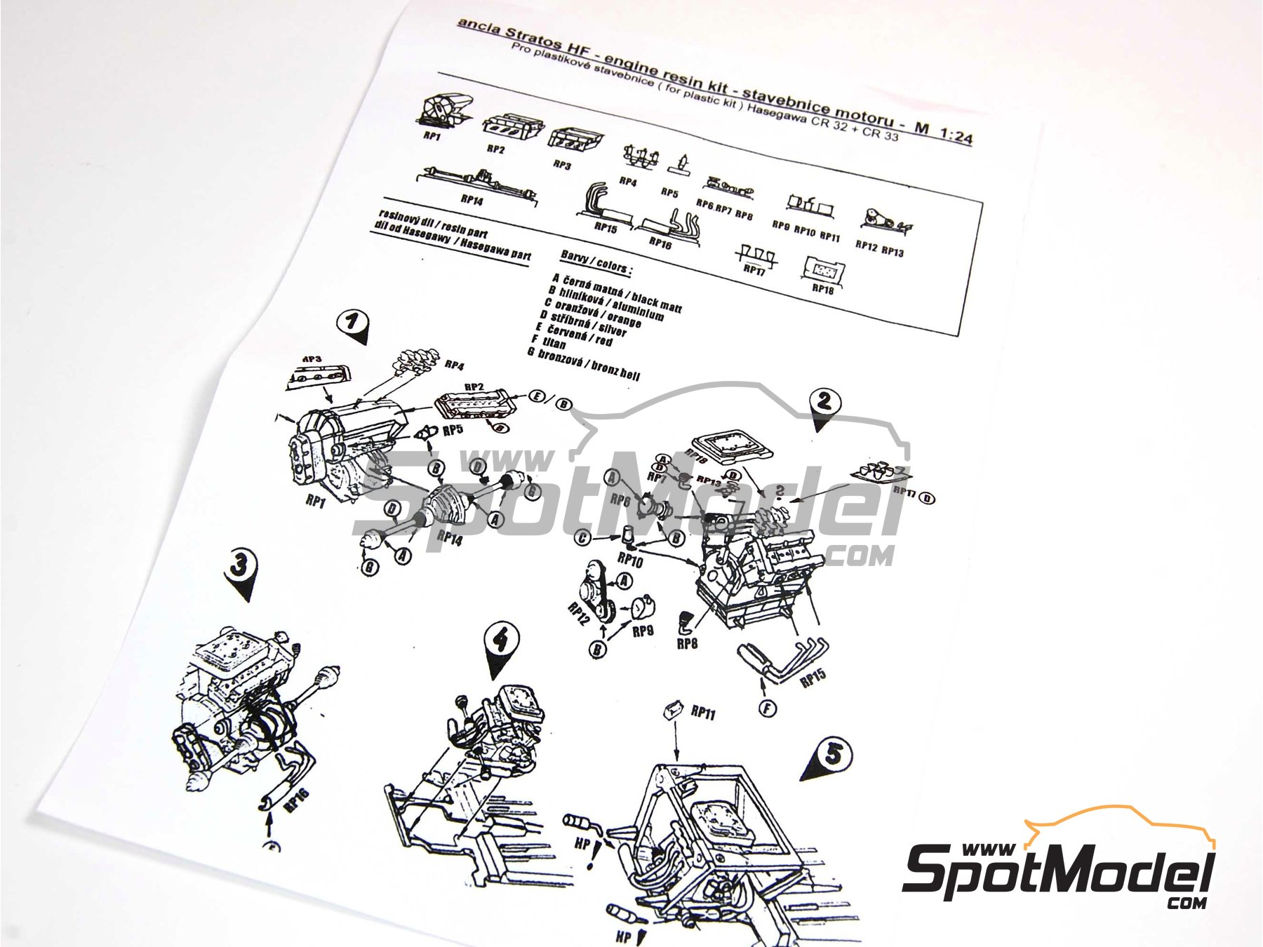 Image 2: Lancia Stratos HF | Engine in 1/24 scale manufactured by Reji Model (ref.REJI-SP992)