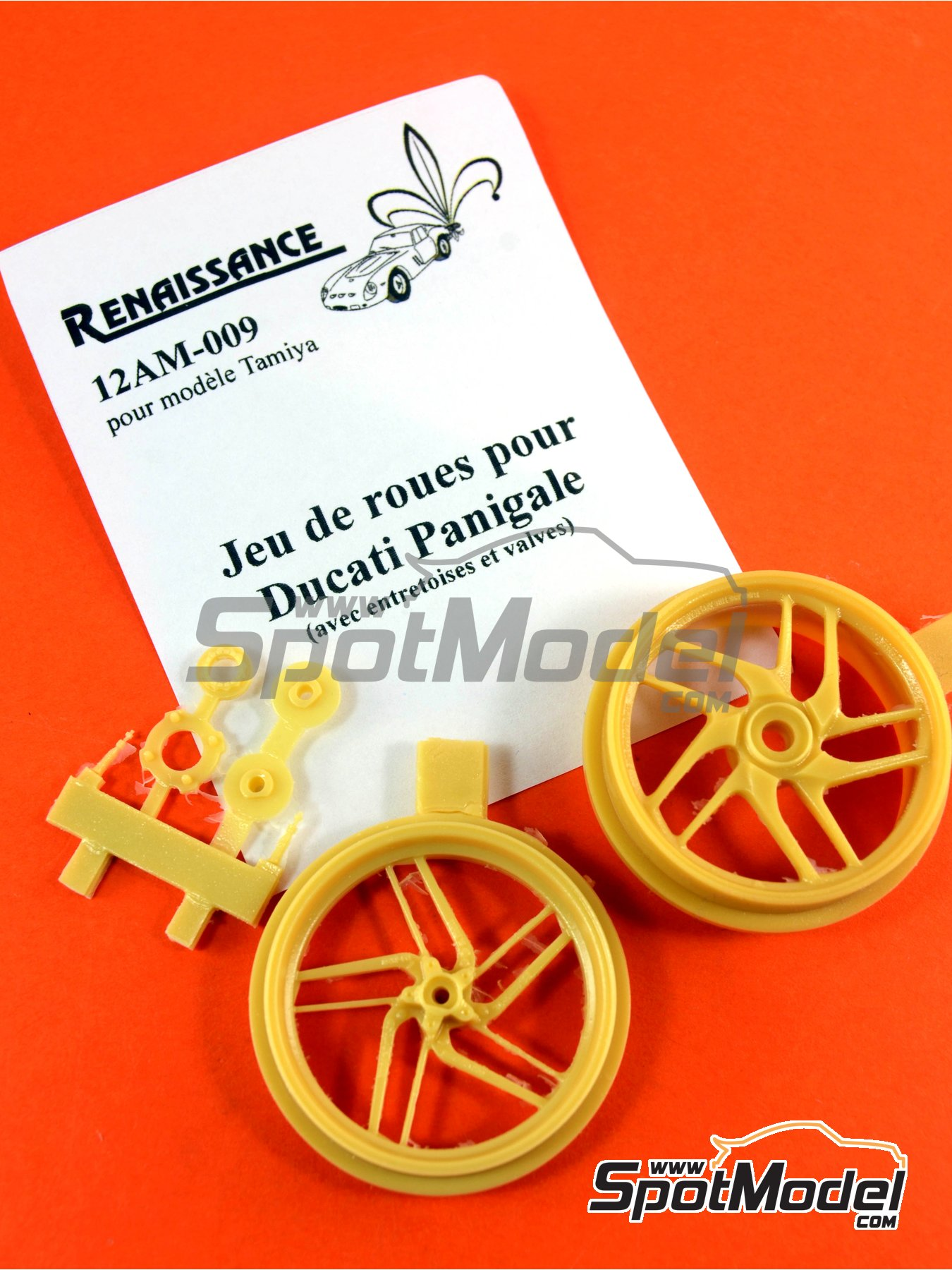 Ducati 1199 Panigale S | Rims in 1/12 scale manufactured by Renaissance Models (ref.12AM-009) image