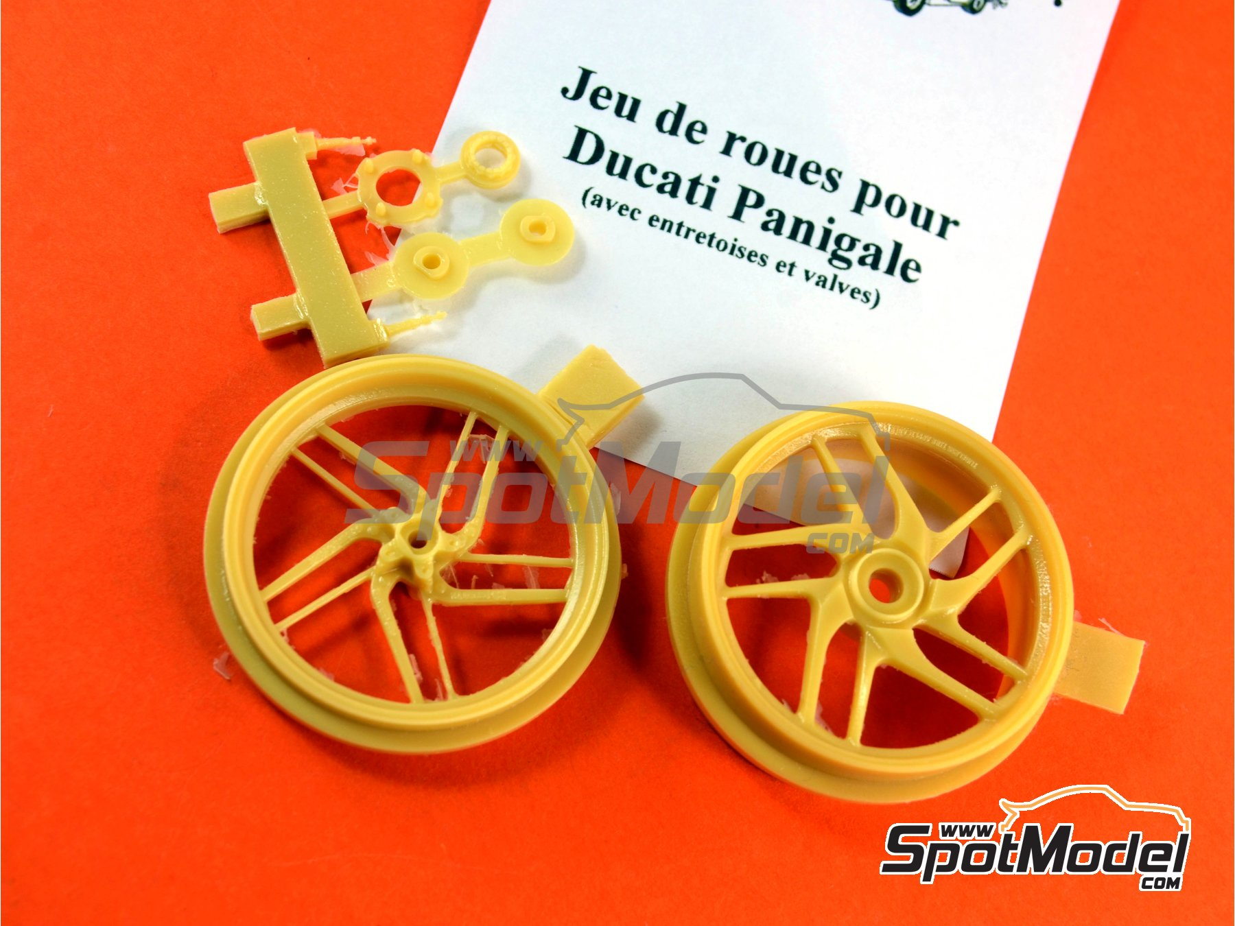 Image 1: Ducati 1199 Panigale S | Rims in 1/12 scale manufactured by Renaissance Models (ref.12AM-009)