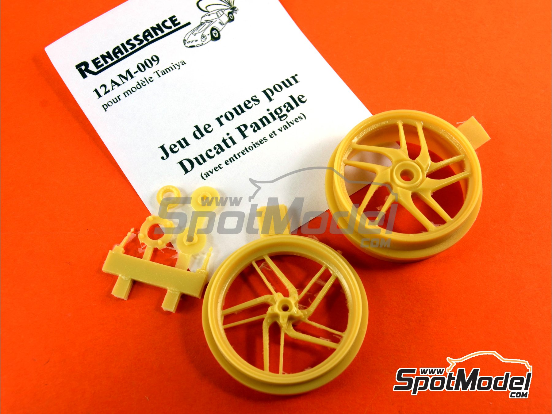 Image 6: Ducati 1199 Panigale S | Rims in 1/12 scale manufactured by Renaissance Models (ref.12AM-009)