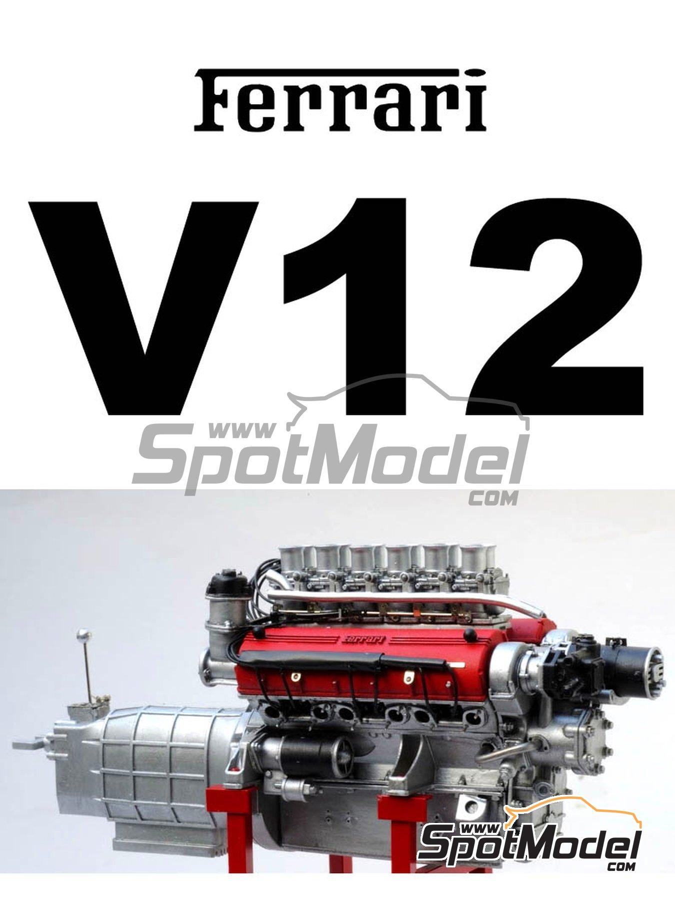 Ferrari V12 3000cc | Motor en escala1/12 fabricado por Renaissance Models (ref.12ENG1) image