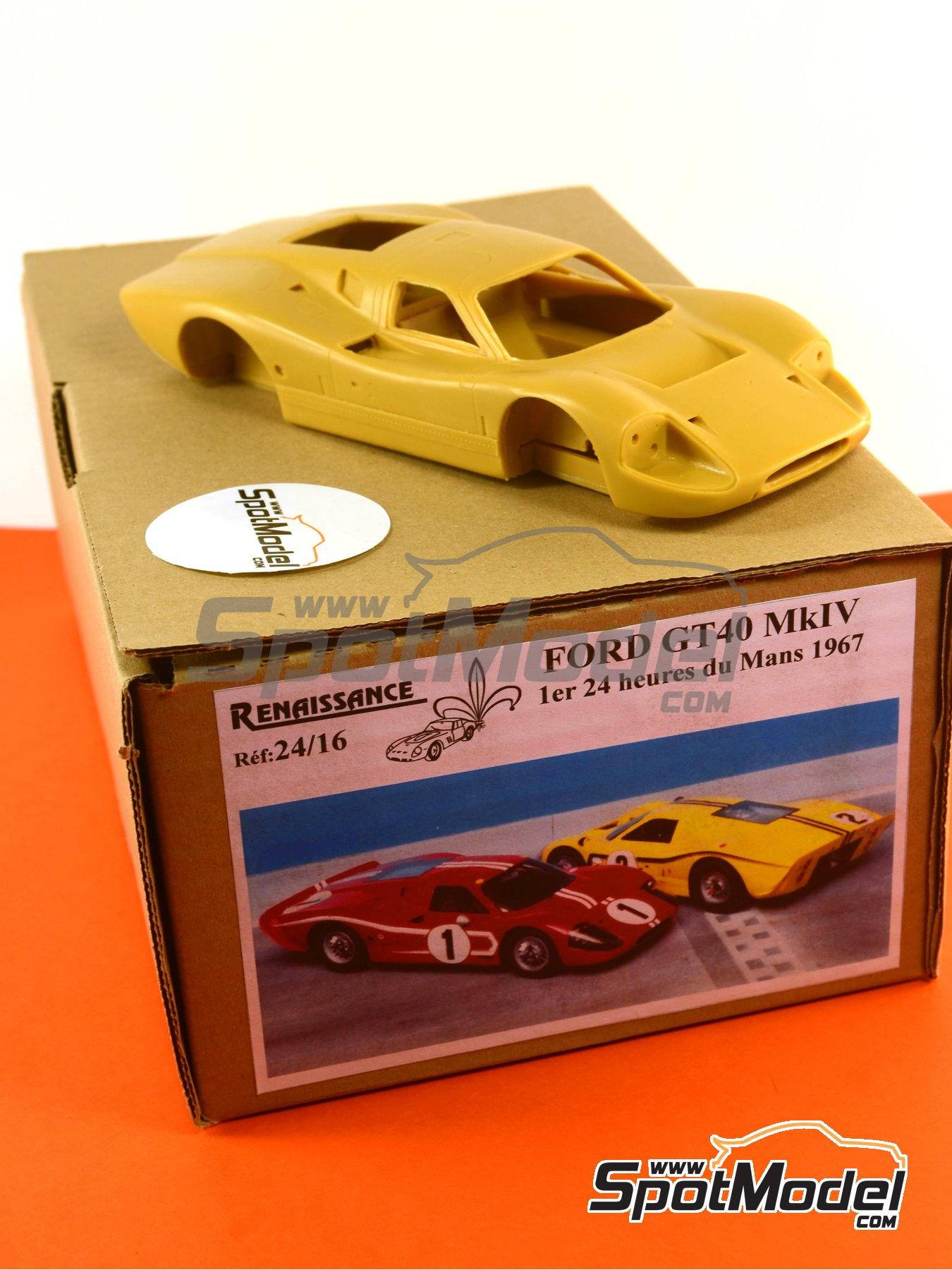 Ford GT40 Mk IV - 24 Hours Le Mans 1967   Model car kit in 1/24 scale manufactured by Renaissance Models (ref.24-16, also 24/16) image