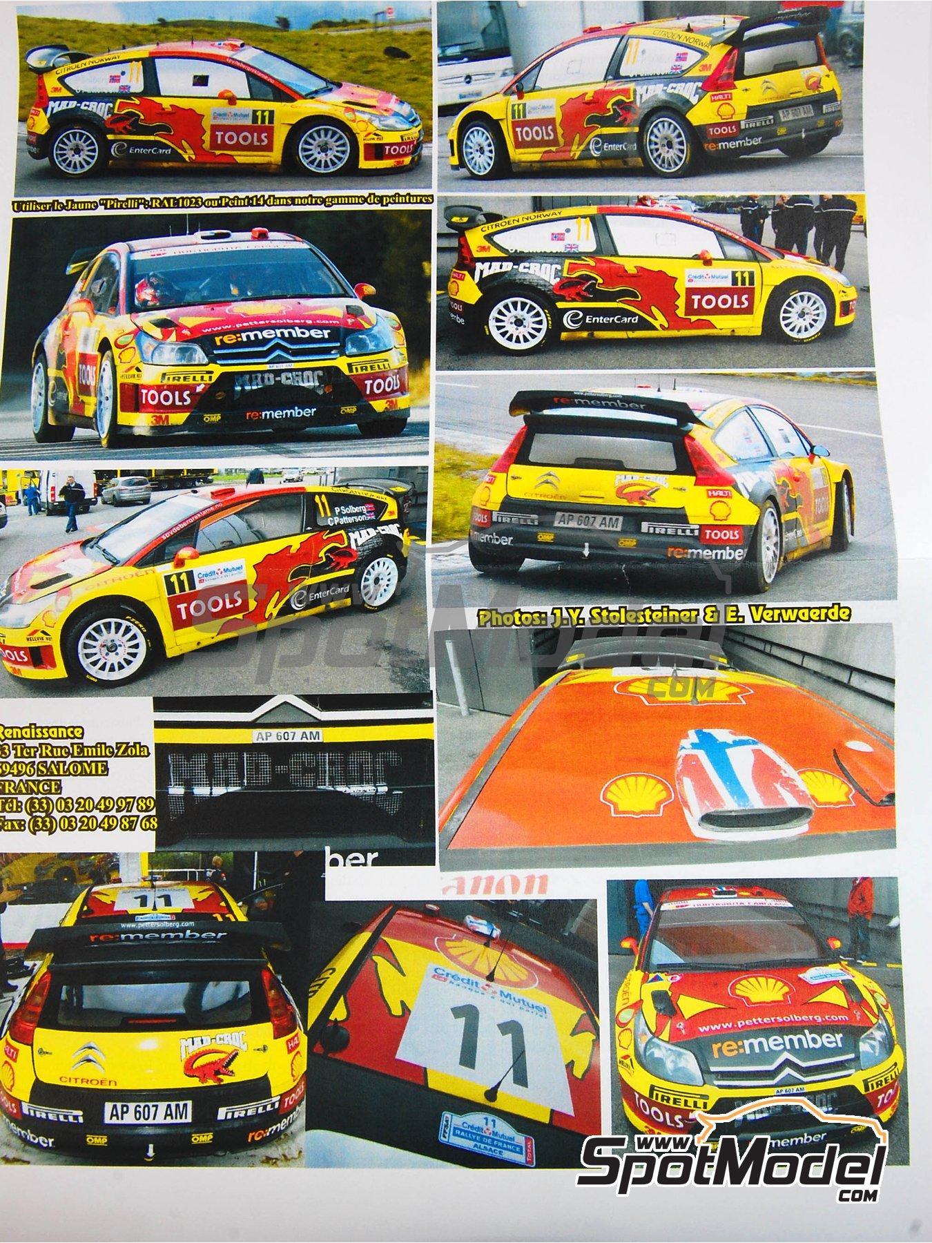 Citroen C4 WRC - Rally de Francia 2010 | Maqueta de coche en escala1/24 fabricado por Renaissance Models (ref.24-27B, tambien 24/27B) image