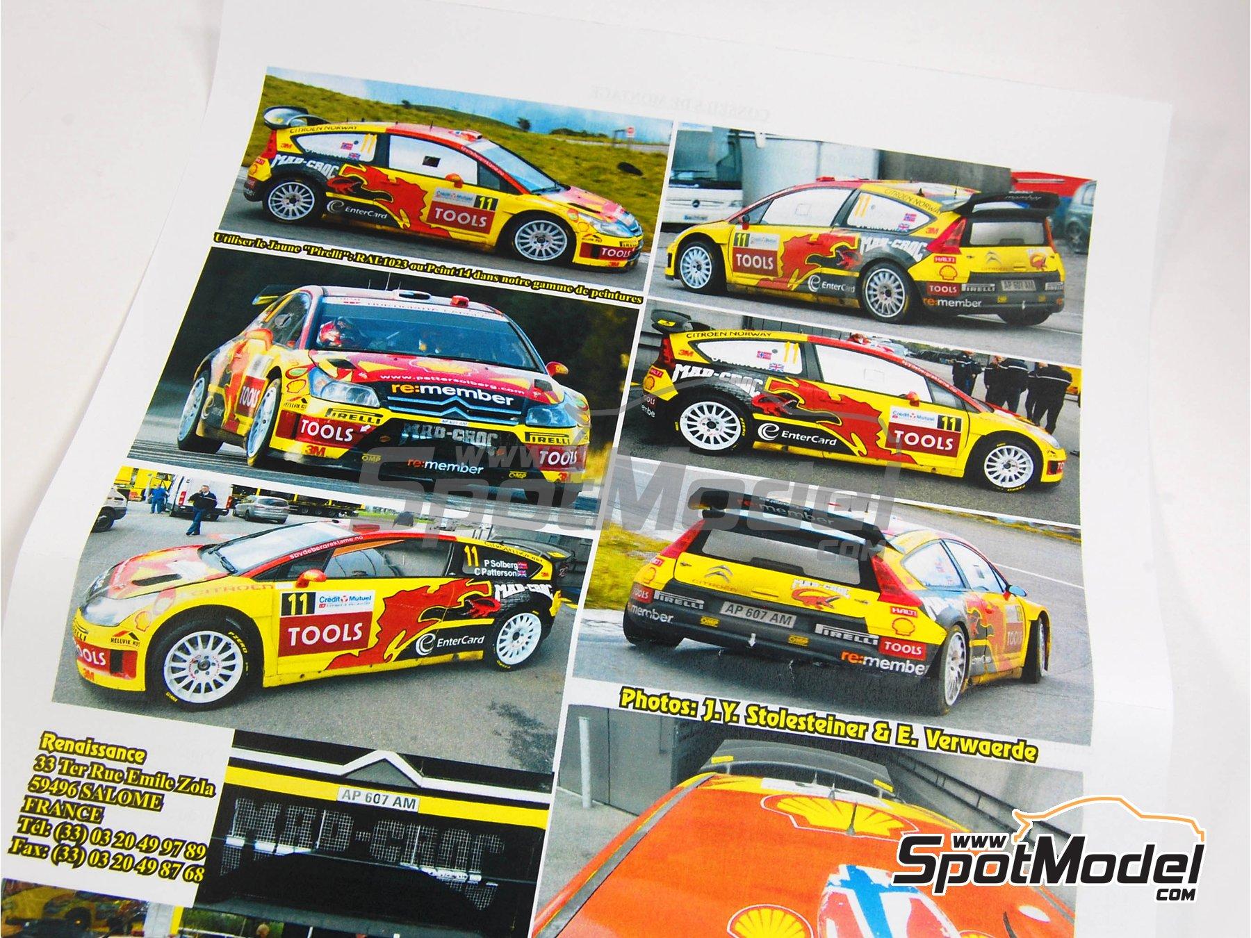 Image 1: Citroen C4 WRC - Rally de Francia 2010 | Maqueta de coche en escala1/24 fabricado por Renaissance Models (ref.24-27B, tambien 24/27B)