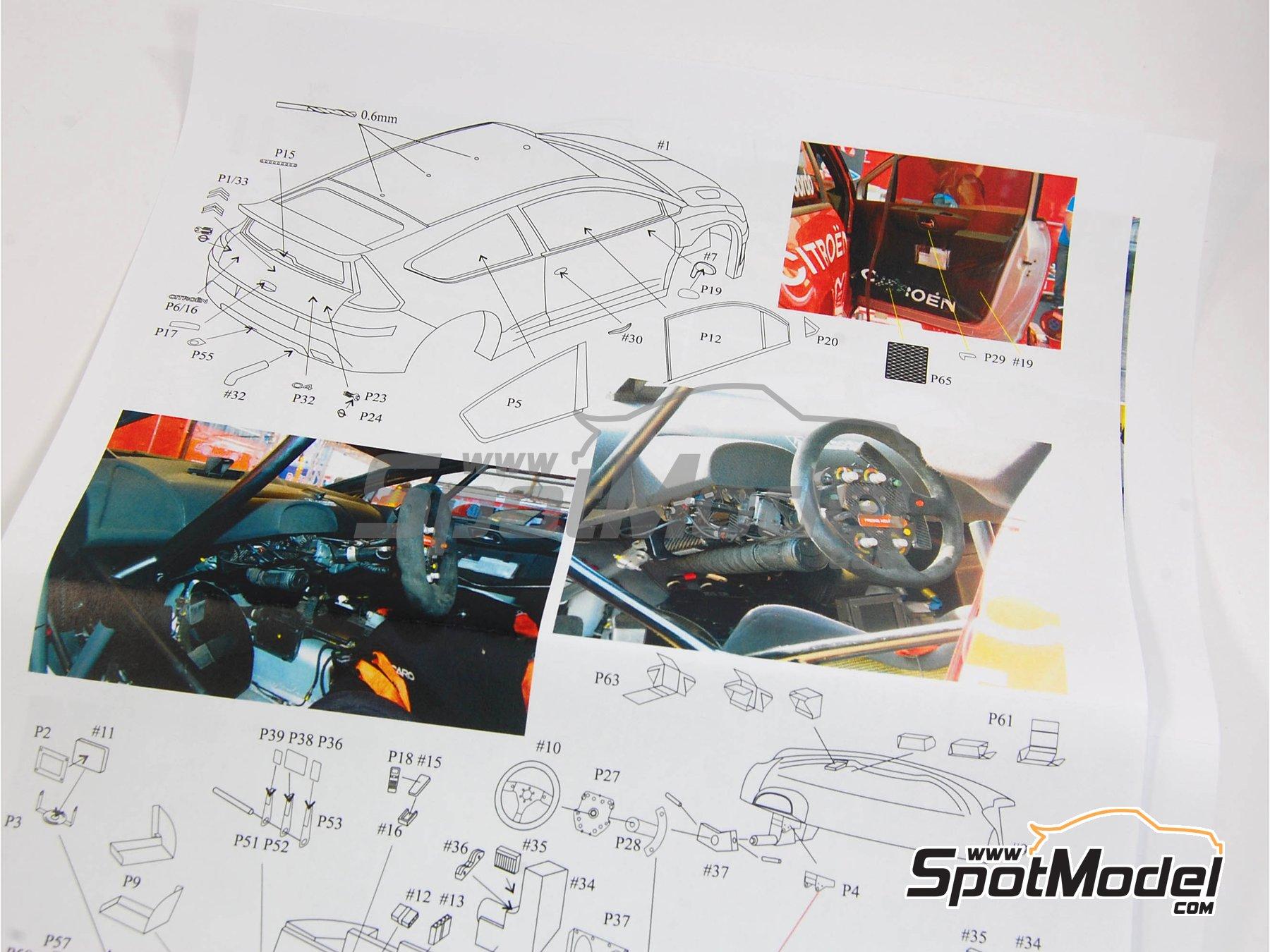 Image 2: Citroen C4 WRC - Rally de Francia 2010 | Maqueta de coche en escala1/24 fabricado por Renaissance Models (ref.24-27B, tambien 24/27B)