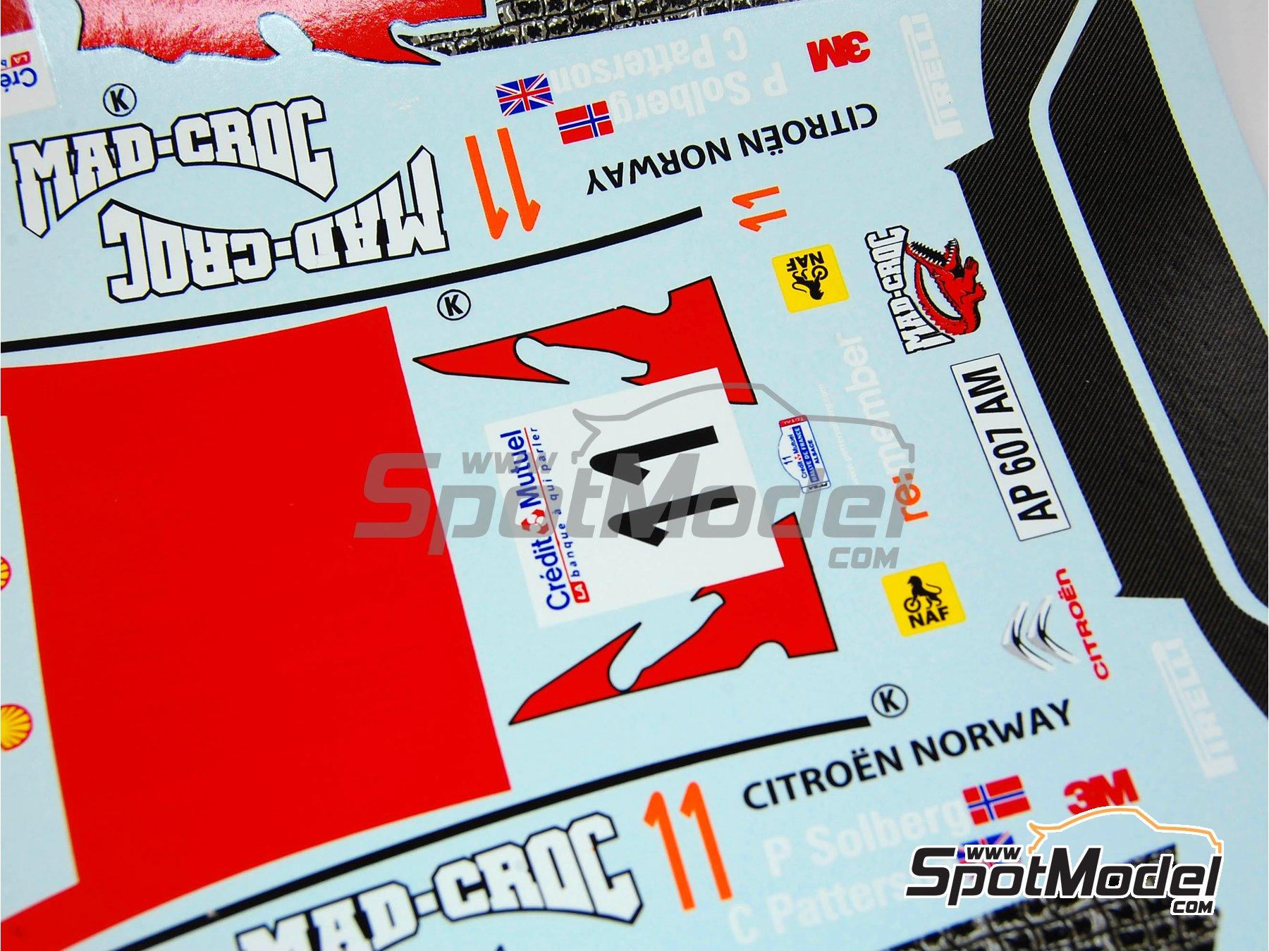 Image 9: Citroen C4 WRC - Rally de Francia 2010 | Maqueta de coche en escala1/24 fabricado por Renaissance Models (ref.24-27B, tambien 24/27B)