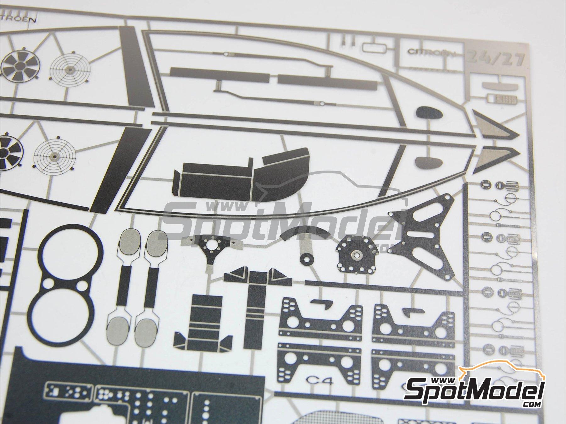 Image 15: Citroen C4 WRC - Rally de Francia 2010 | Maqueta de coche en escala1/24 fabricado por Renaissance Models (ref.24-27B, tambien 24/27B)