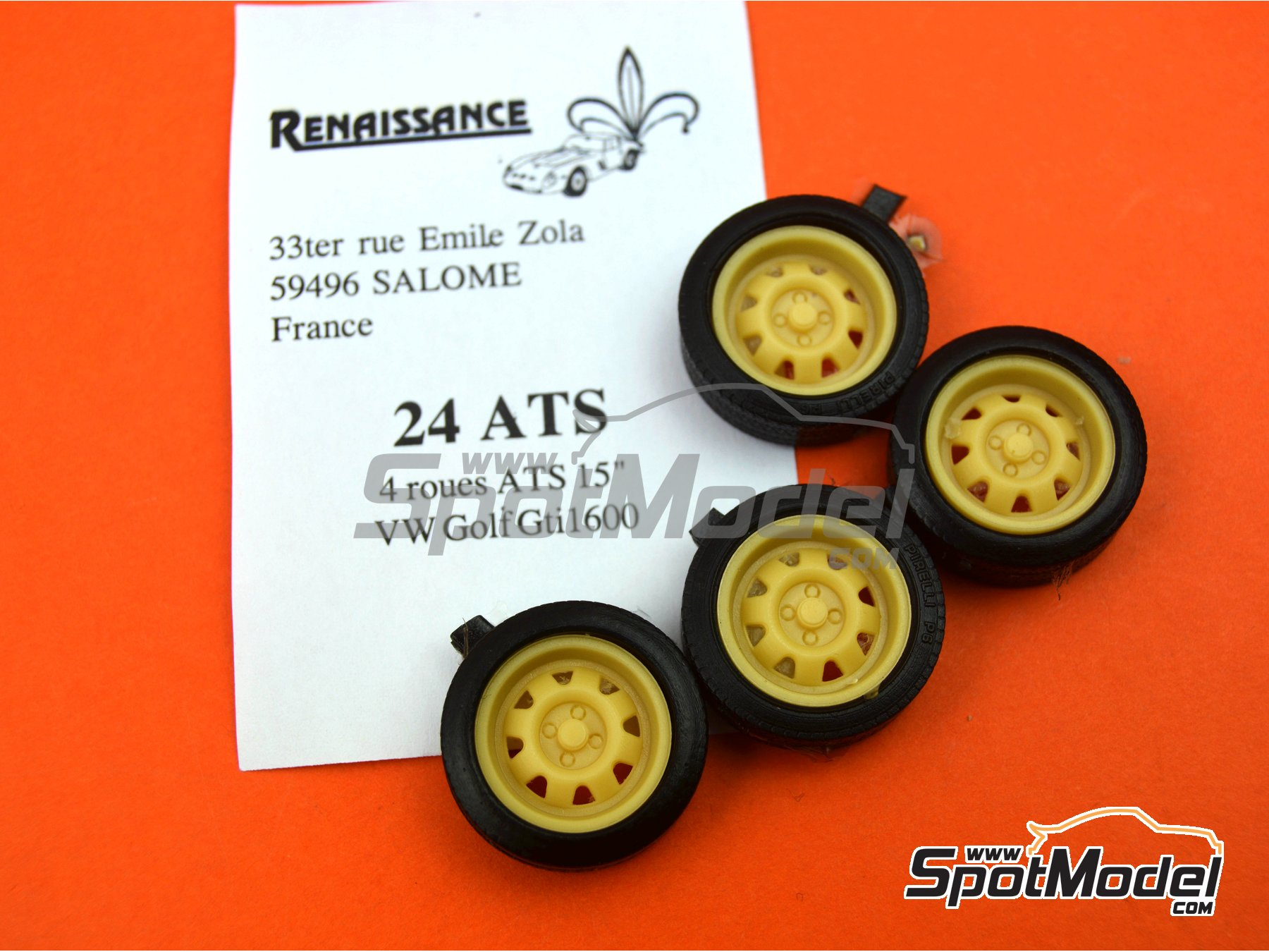 Image 5: ATS 15 inches | Rims and tyres set in 1/24 scale manufactured by Renaissance Models (ref. 24ATS)