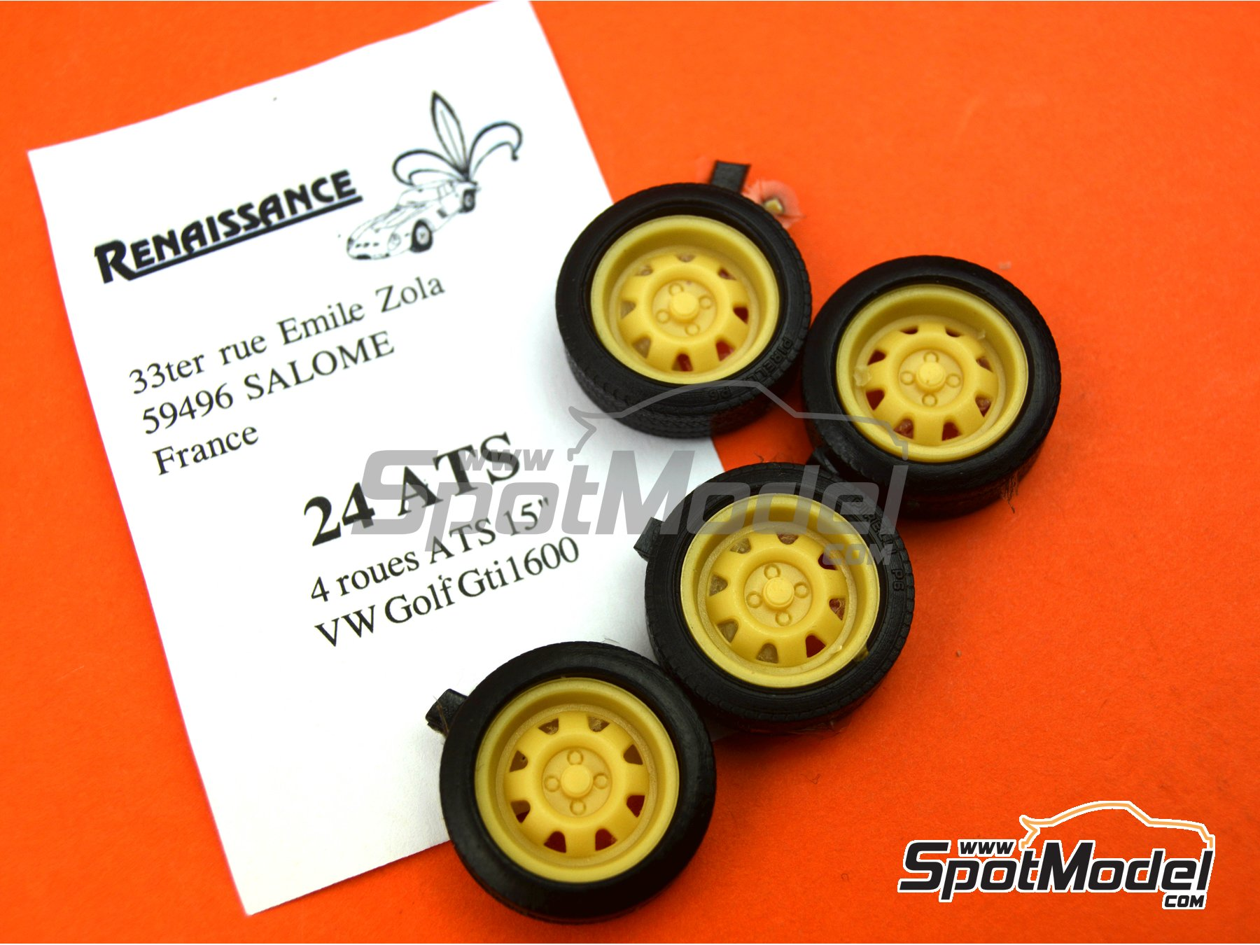 Image 6: ATS 15 inches | Rims and tyres set in 1/24 scale manufactured by Renaissance Models (ref. 24ATS)