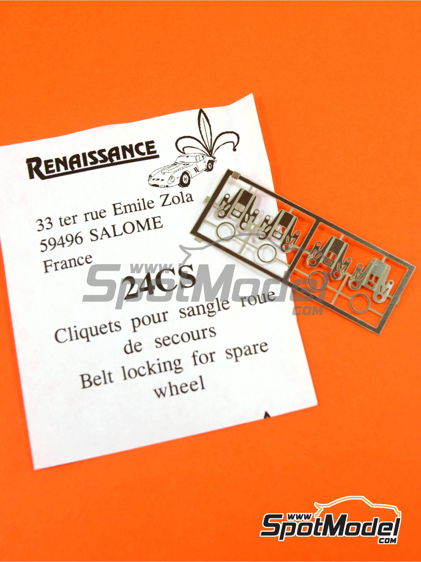 Belt locking for spare wheel   Detail in 1/24 scale manufactured by Renaissance Models (ref.24CS) image