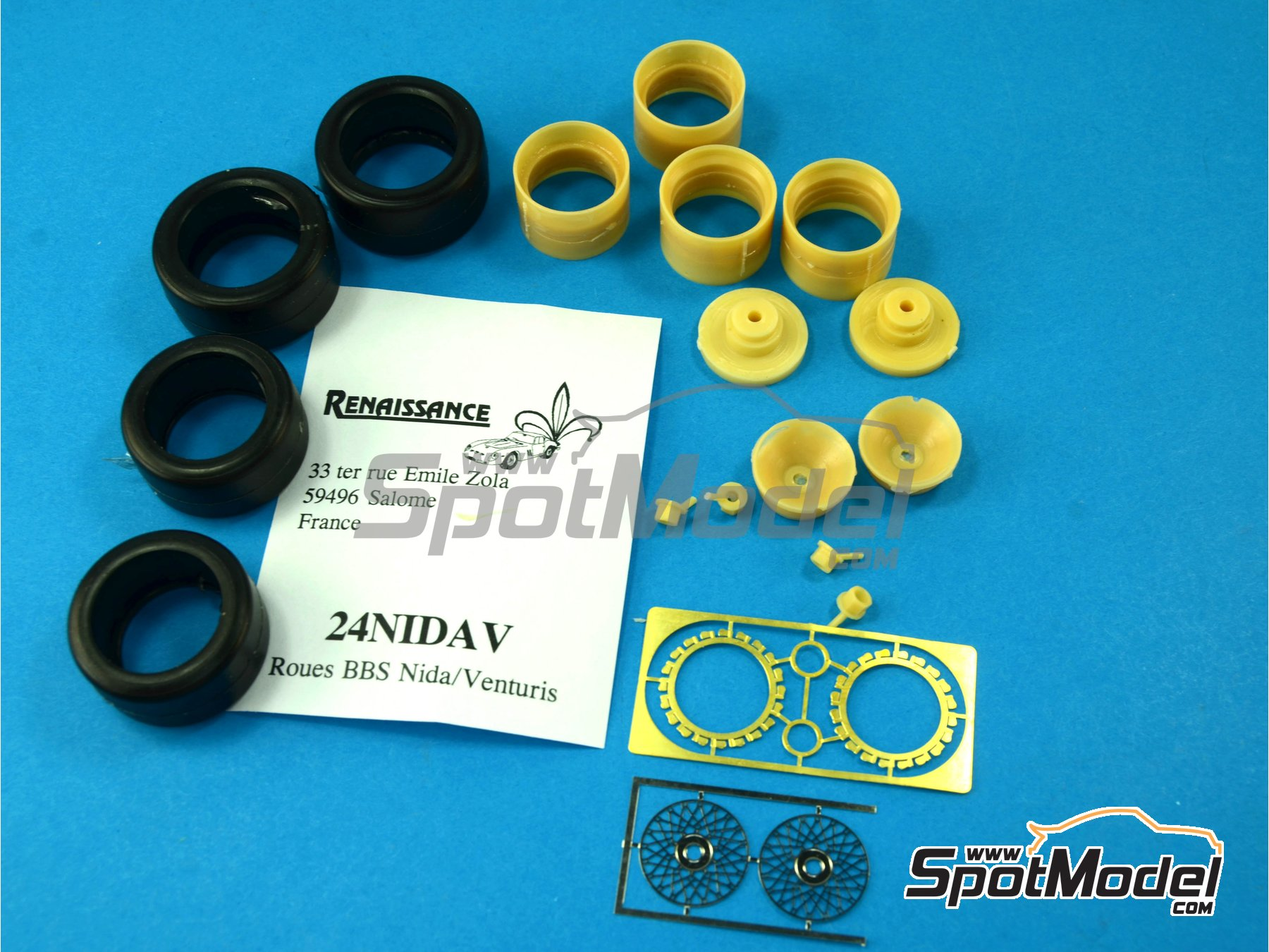 Image 8: BBS rims - Nida and venturis | Rims and tyres set in 1/24 scale manufactured by Renaissance Models (ref. 24NIDAV)