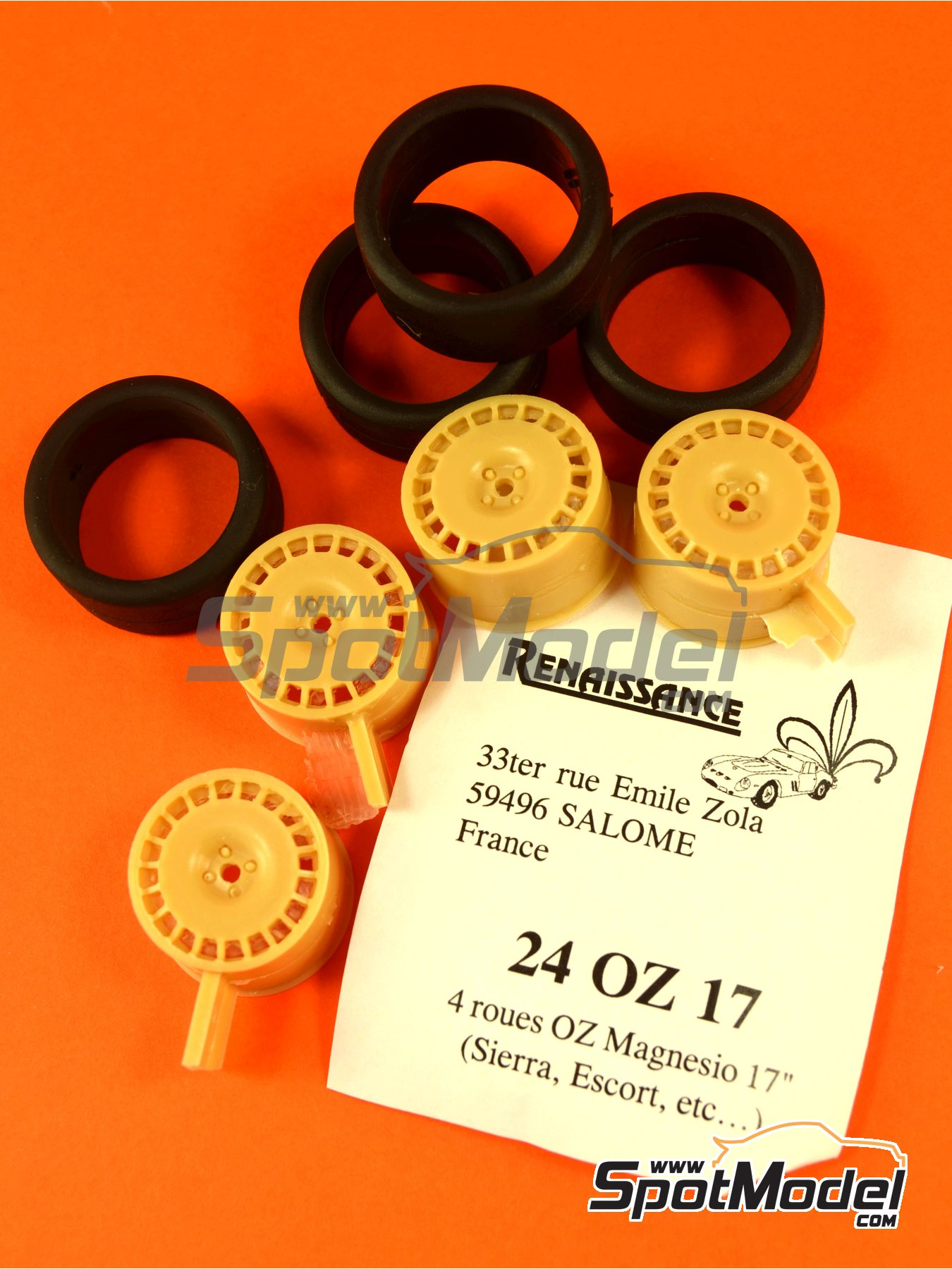 OZ 17 inches | Rims and tyres set in 1/24 scale manufactured by Renaissance Models (ref.24OZ17) image
