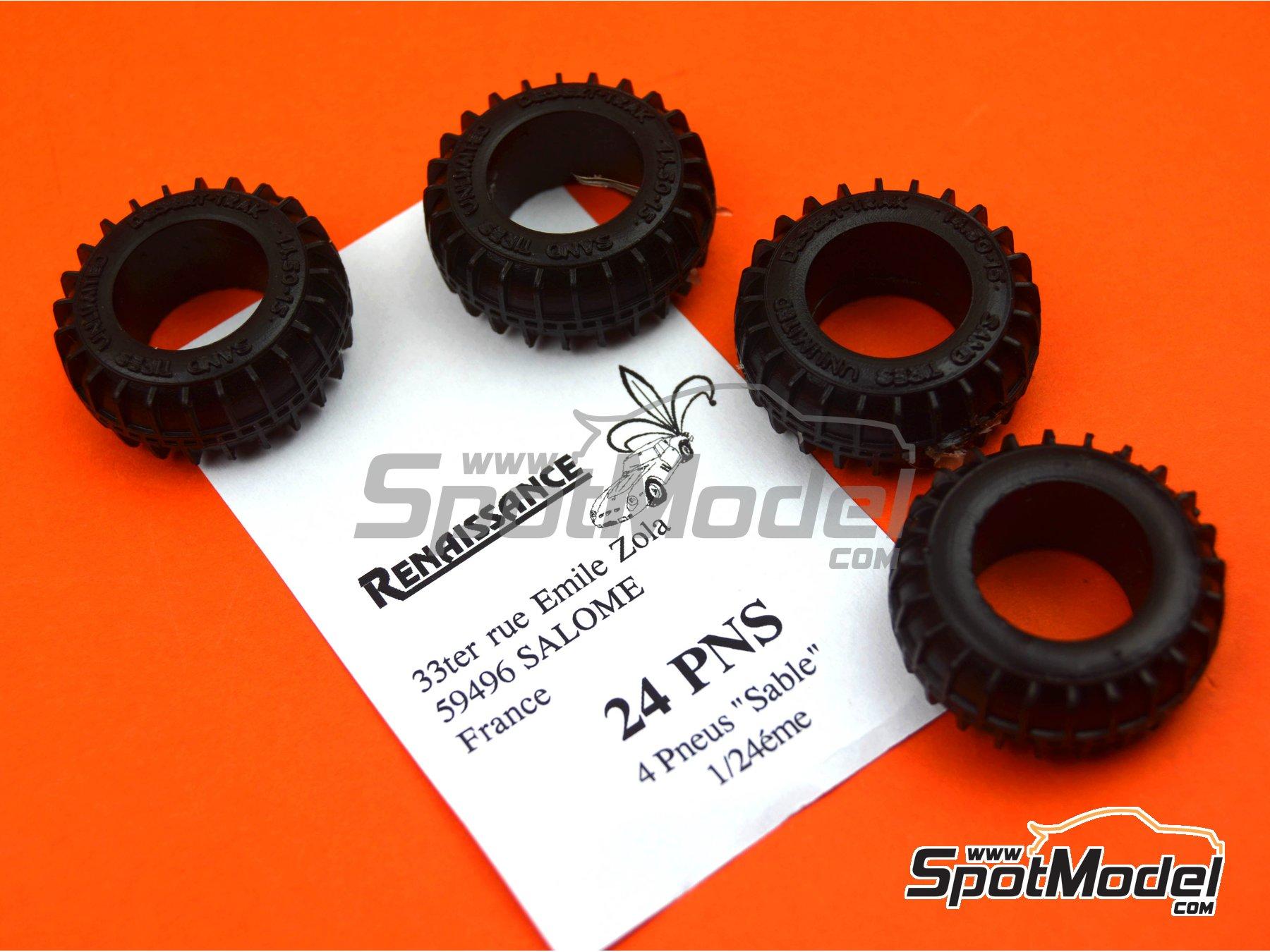 Image 2: Neumáticos de arena | Neumáticos en escala1/24 fabricado por Renaissance Models (ref.24PNS)