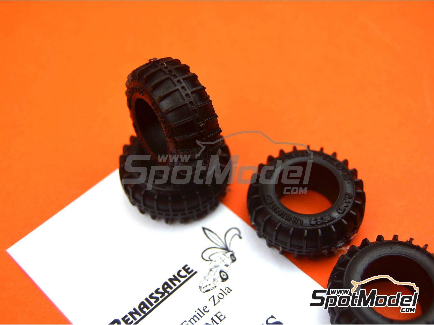 Image 3: Neumáticos de arena | Neumáticos en escala1/24 fabricado por Renaissance Models (ref.24PNS)