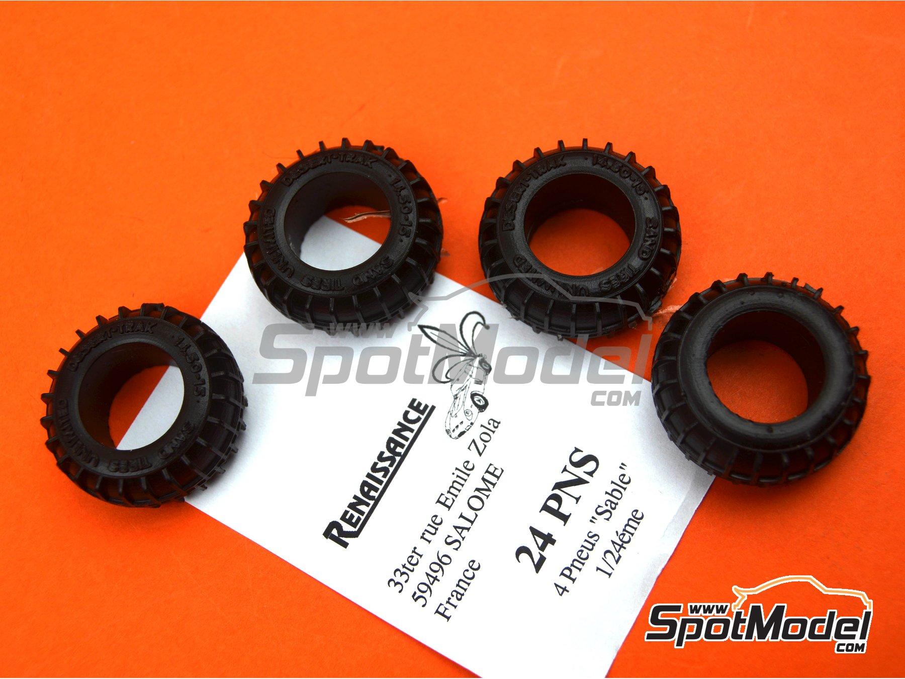 Image 4: Neumáticos de arena | Neumáticos en escala1/24 fabricado por Renaissance Models (ref.24PNS)