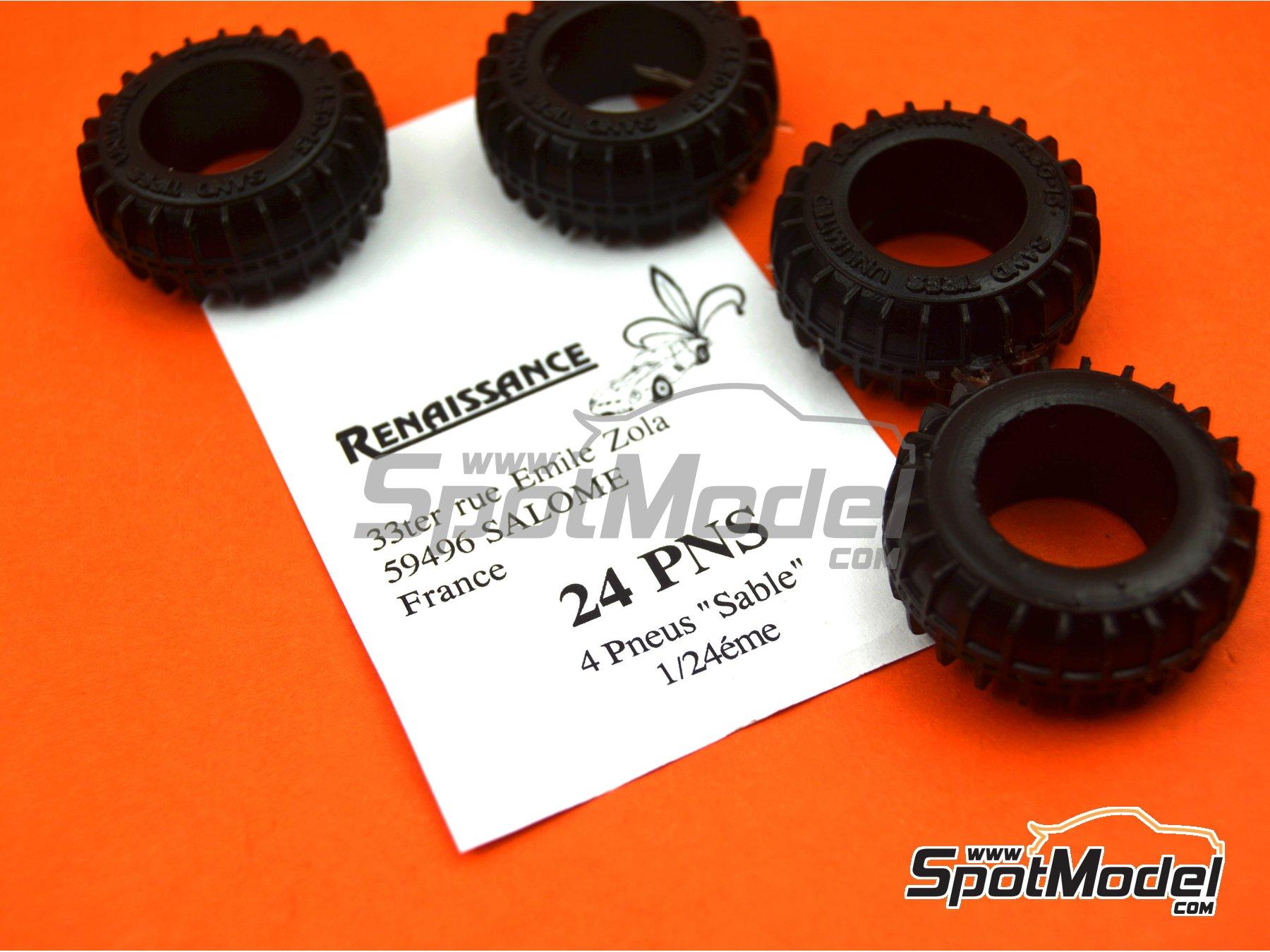 Image 6: Neumáticos de arena | Neumáticos en escala1/24 fabricado por Renaissance Models (ref.24PNS)