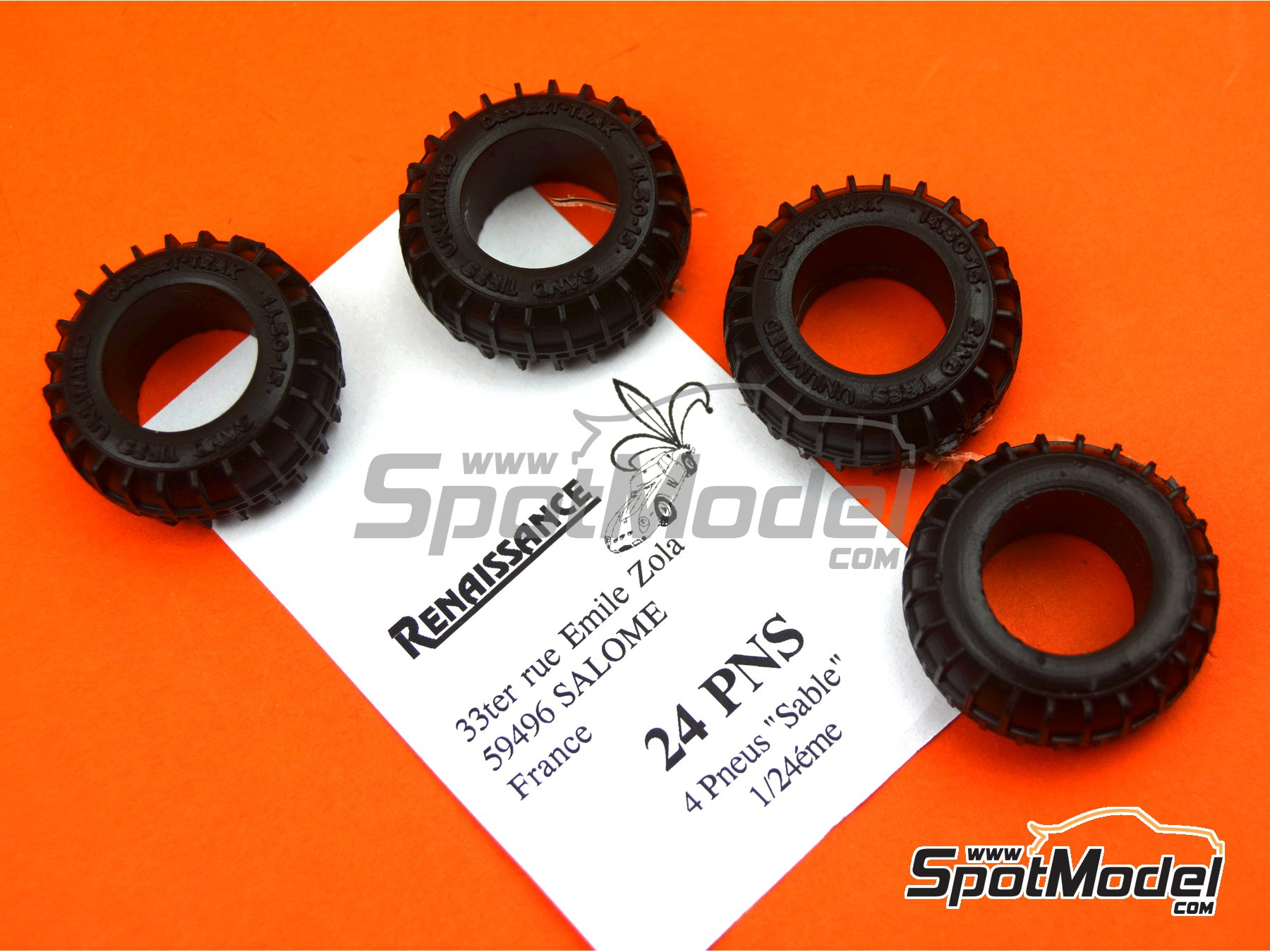 Image 7: Neumáticos de arena | Neumáticos en escala1/24 fabricado por Renaissance Models (ref.24PNS)