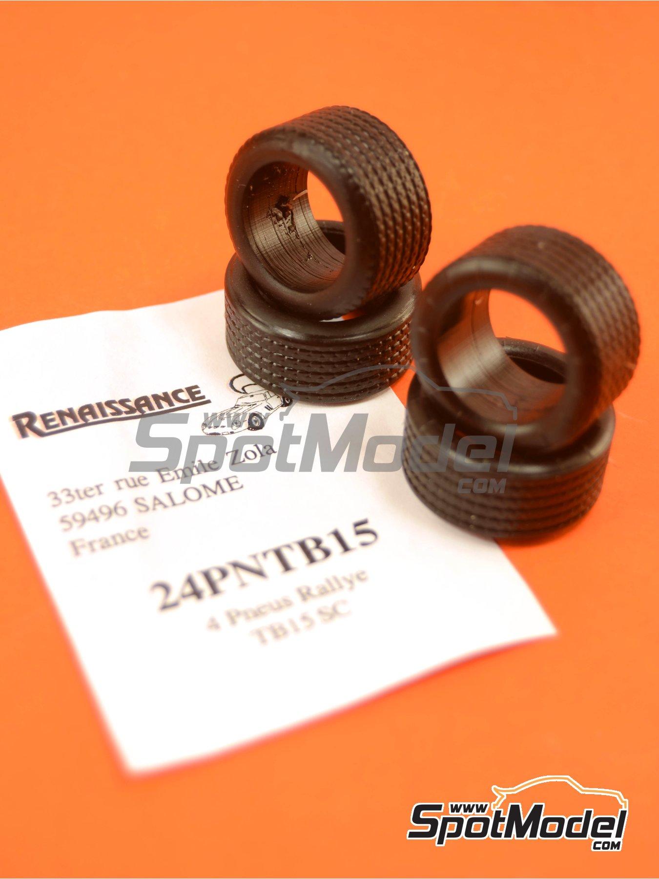 Michelin TB15 rally 15 pulgadas | Neumáticos en escala1/24 fabricado por Renaissance Models (ref.24PNTB15) image