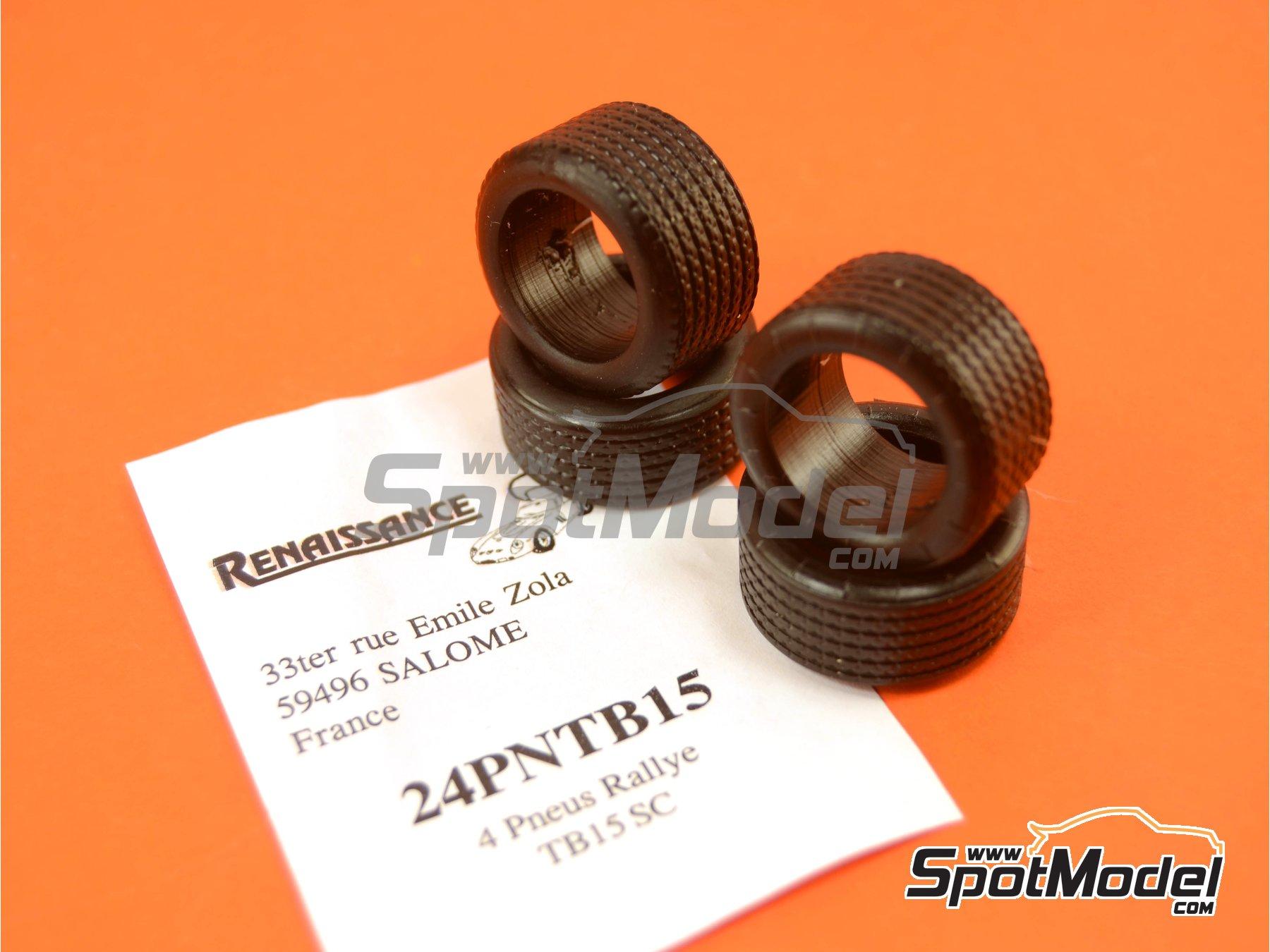 Image 4: Michelin TB15 rally 15 pulgadas | Neumáticos en escala1/24 fabricado por Renaissance Models (ref.24PNTB15)