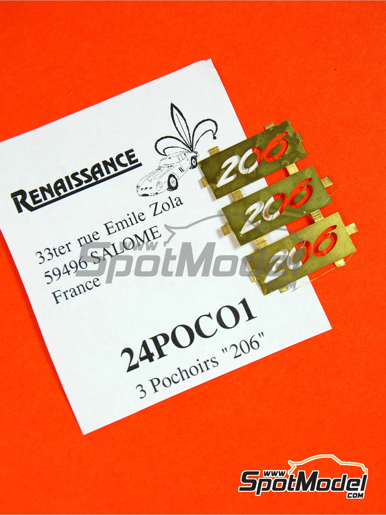 Peugeot 206 | Logotypes in 1/24 scale manufactured by Renaissance Models (ref.24POC01) image
