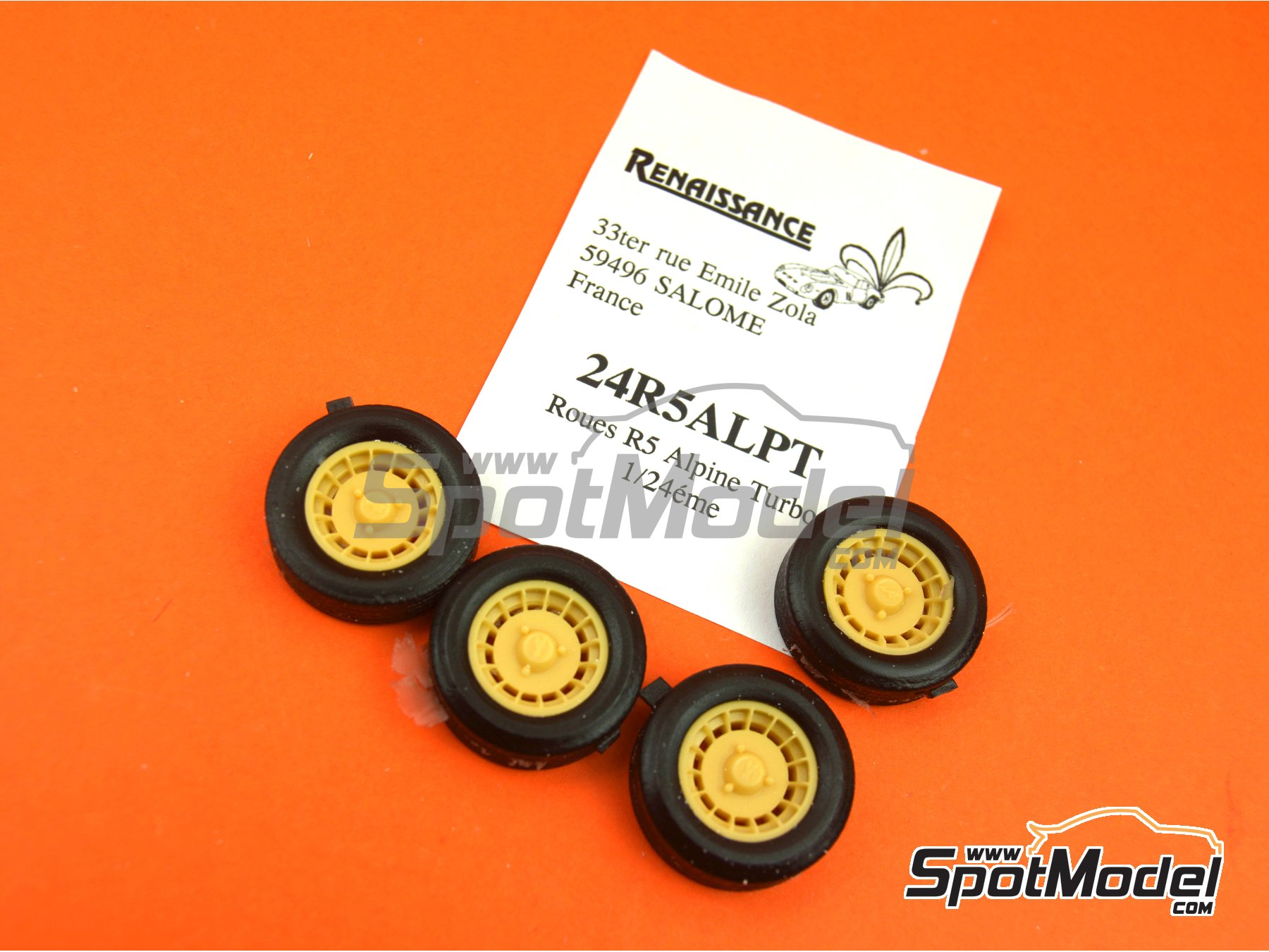 Image 6: Alpine Turbo Design | Rims and tyres set in 1/24 scale manufactured by Renaissance Models (ref. 24R5ALPT)