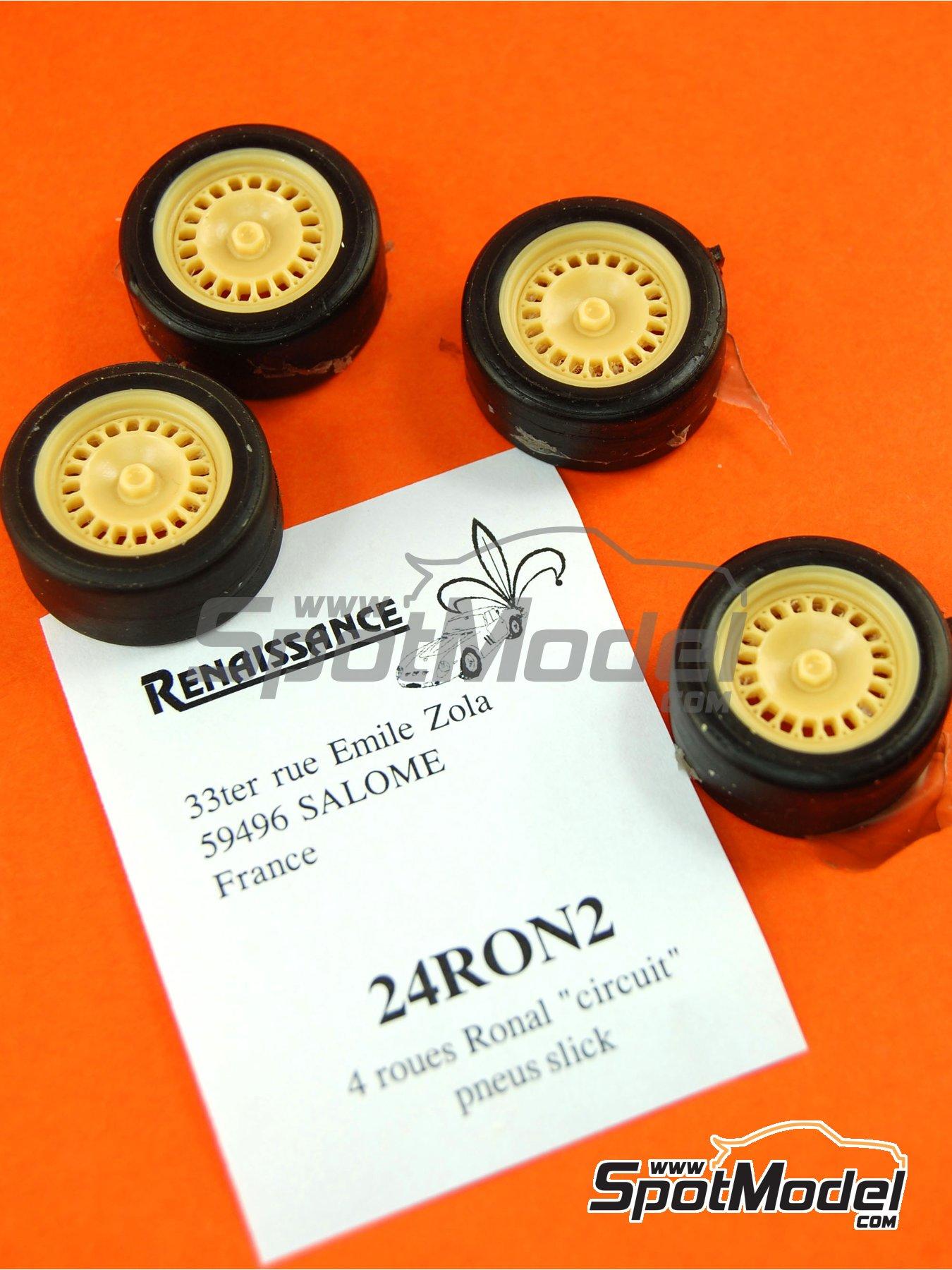 Ronal 15 pulgadas | Set de llantas y neumáticos en escala1/24 fabricado por Renaissance Models (ref.24RON2) image