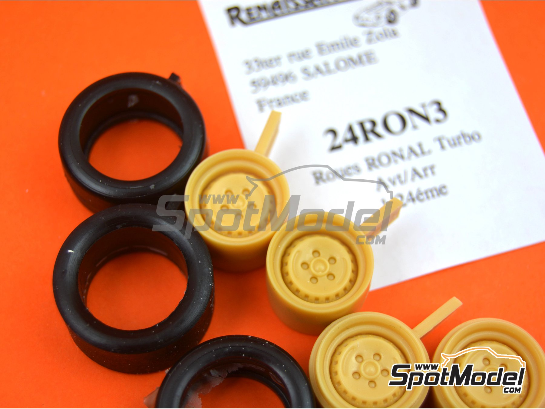 Image 3: Ronal Turbo with slicks | Rims and tyres set in 1/24 scale manufactured by Renaissance Models (ref. 24RON3)