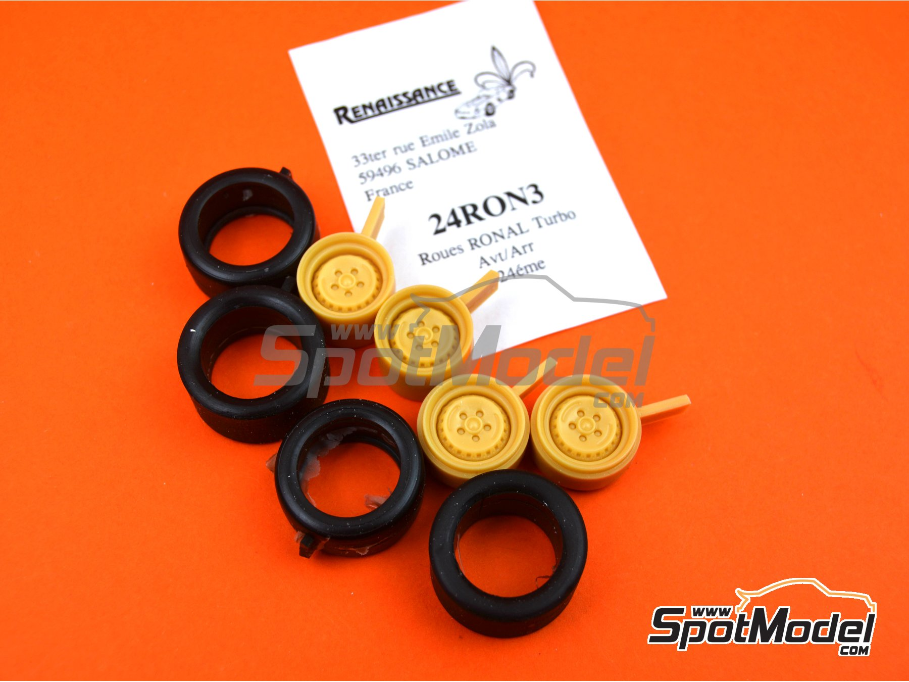 Image 5: Ronal Turbo with slicks | Rims and tyres set in 1/24 scale manufactured by Renaissance Models (ref. 24RON3)