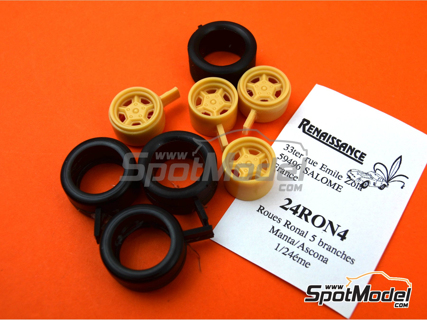 Image 2: Ronal with slicks | Rims and tyres set in 1/24 scale manufactured by Renaissance Models (ref. 24RON4)