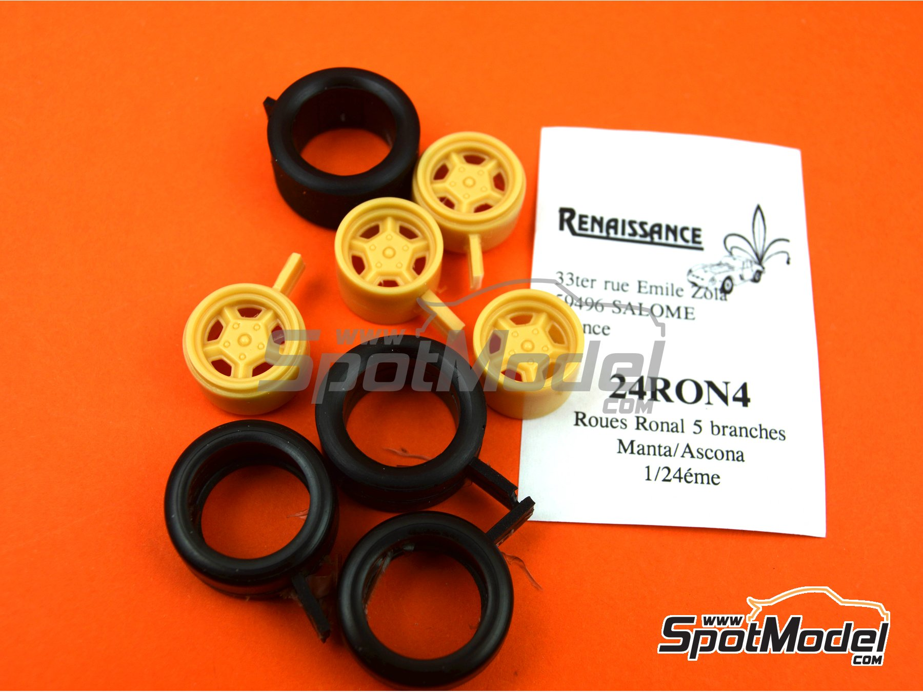 Image 5: Ronal with slicks | Rims and tyres set in 1/24 scale manufactured by Renaissance Models (ref. 24RON4)