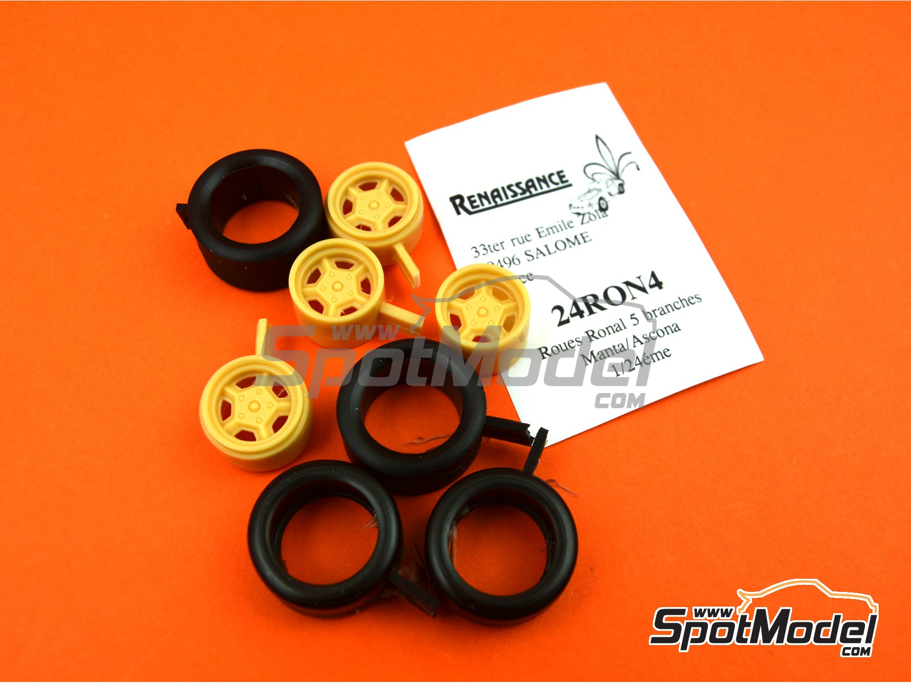 Image 6: Ronal with slicks | Rims and tyres set in 1/24 scale manufactured by Renaissance Models (ref. 24RON4)