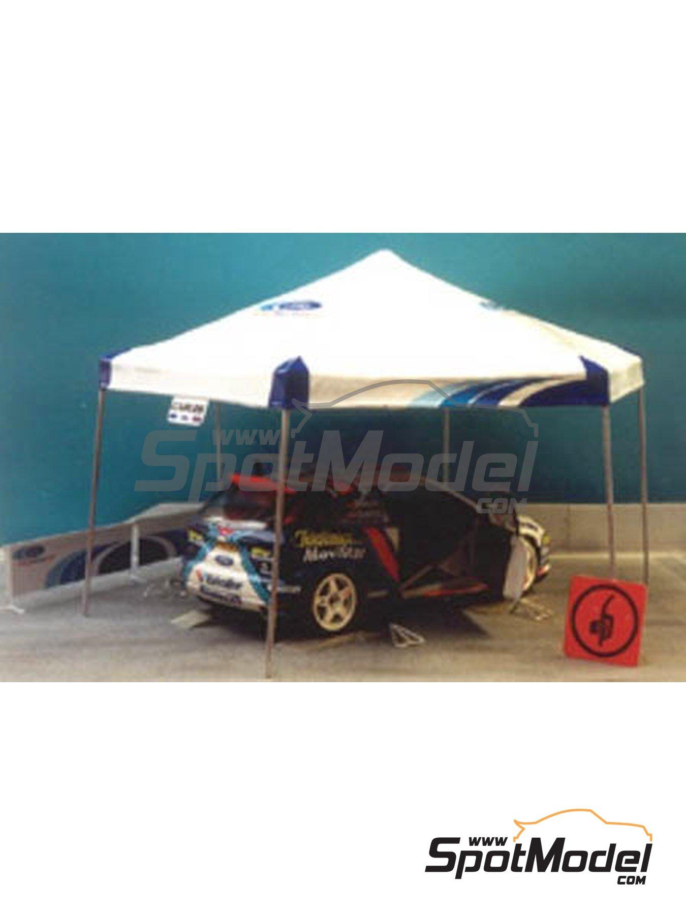 Carpa de asistencia de Peugeot | Carpa en escala1/24 fabricado por Renaissance Models (ref.24TA03) image