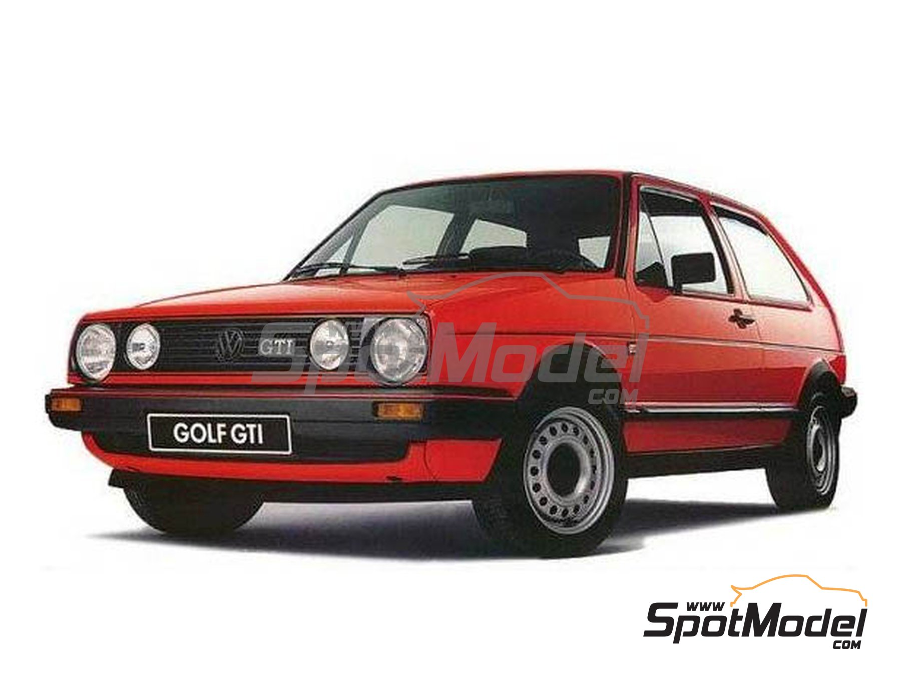 Image 1: Volkswagen Golf II | Rims and tyres set in 1/24 scale manufactured by Renaissance Models (ref.24VW2)