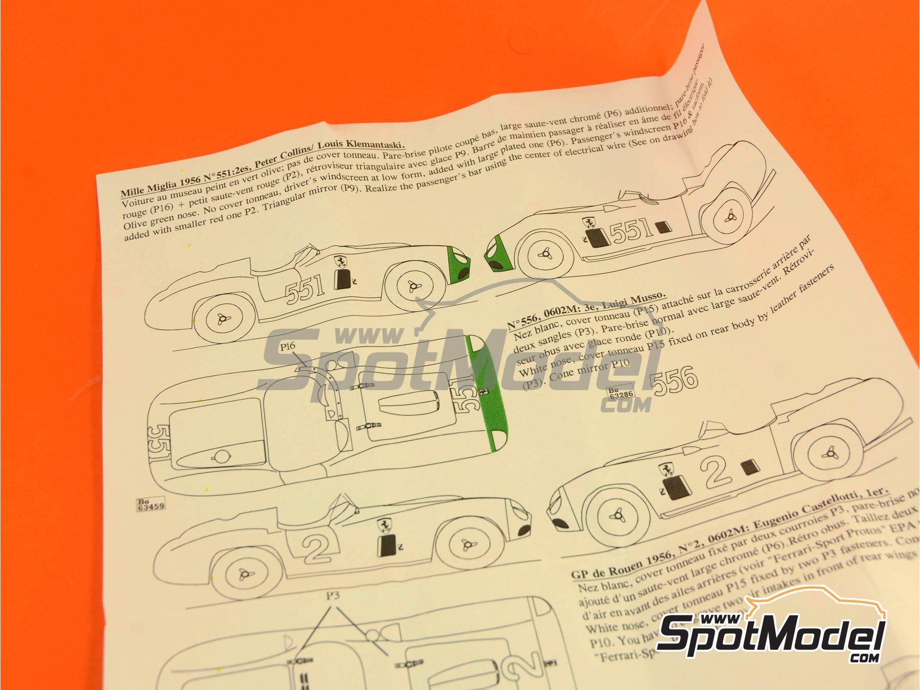 Image 3: Ferrari 860 Monza - Mile Miglia 1956 | Model car kit in 1/43 scale manufactured by Renaissance Models (ref.43-06B, also 43/06B)