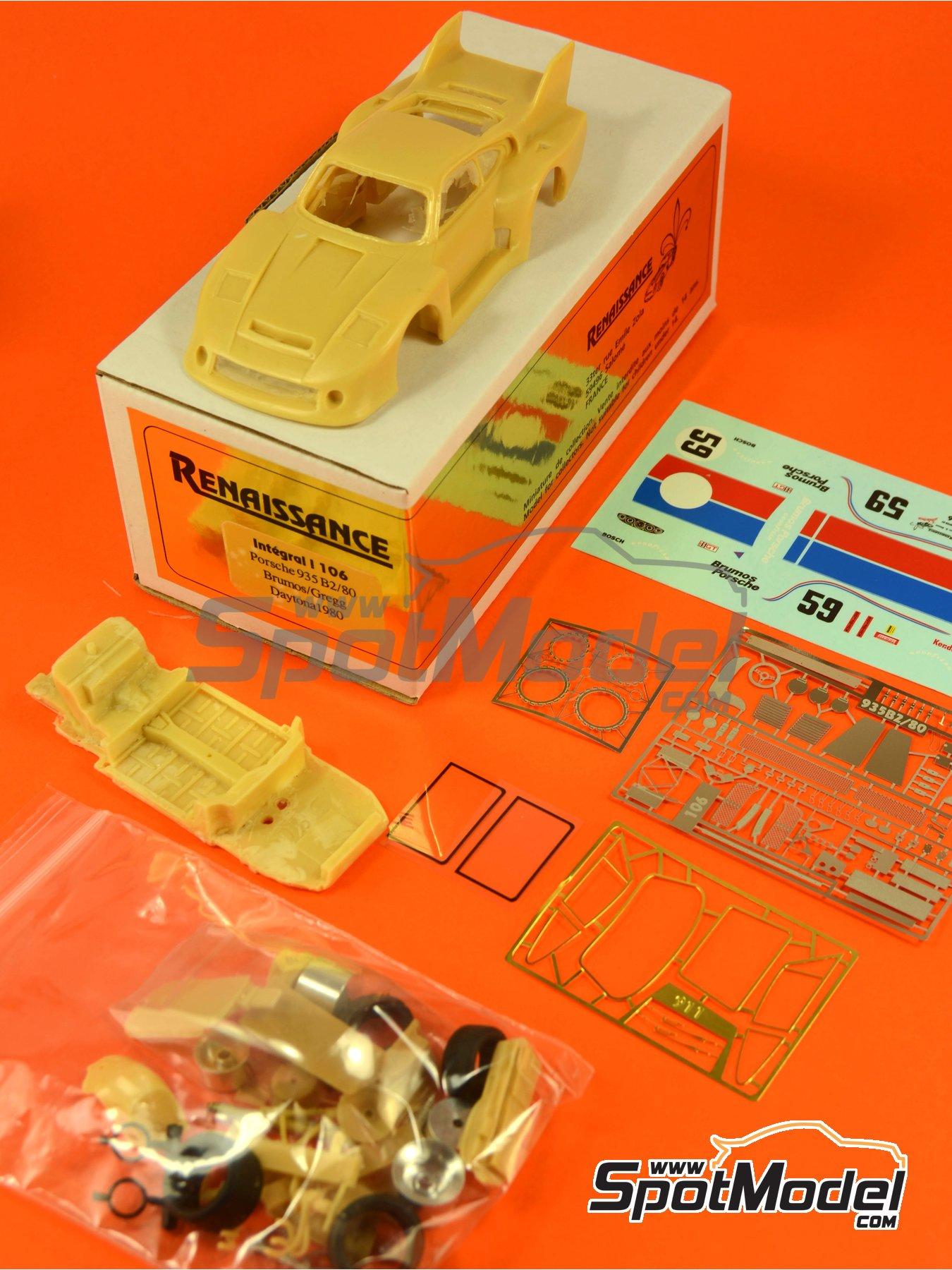 Porsche 935 B2/80 Brumos - 24 Hours of Daytona 1980   Model car kit in 1/43 scale manufactured by Renaissance Models (ref.43-106) image