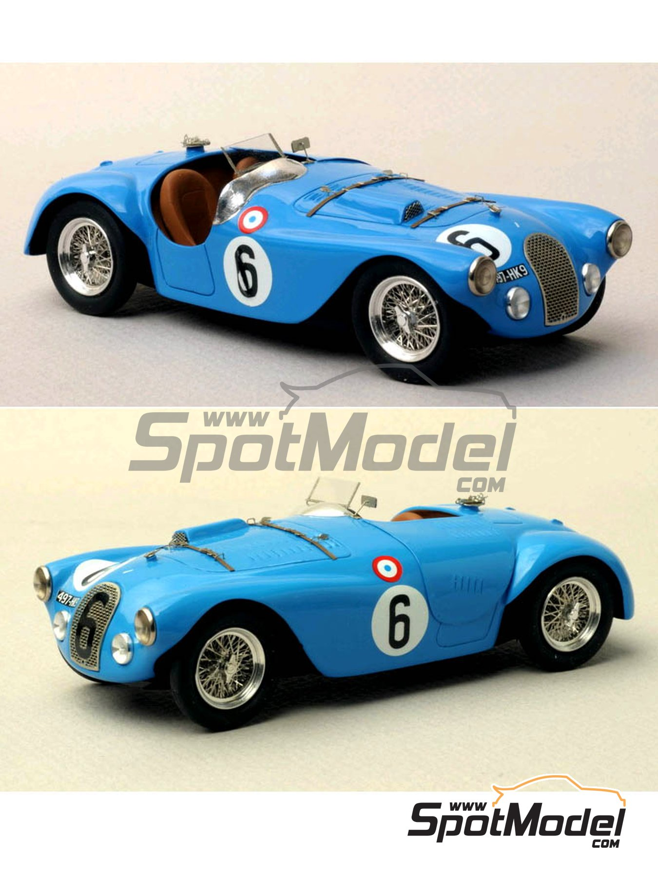 Talbot Lago Grand Sport Spyder - 24 Horas de Le Mans 1952 y 1953 | Maqueta de coche en escala1/43 fabricado por Renaissance Models (ref.43-74B, tambien 43/74B) image