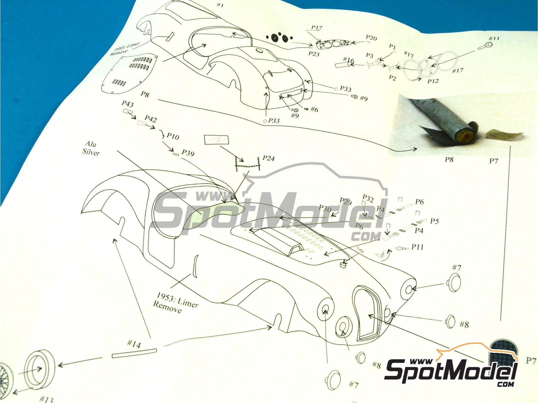 Image 14: Talbot Lago Grand Sport Spyder - 24 Horas de Le Mans 1952 y 1953 | Maqueta de coche en escala1/43 fabricado por Renaissance Models (ref.43-74B, tambien 43/74B)