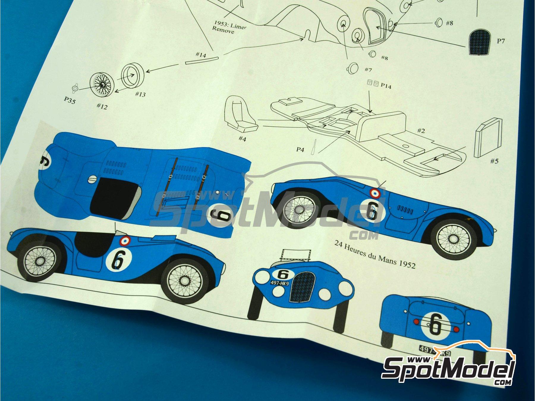 Image 15: Talbot Lago Grand Sport Spyder - 24 Horas de Le Mans 1952 y 1953 | Maqueta de coche en escala1/43 fabricado por Renaissance Models (ref.43-74B, tambien 43/74B)