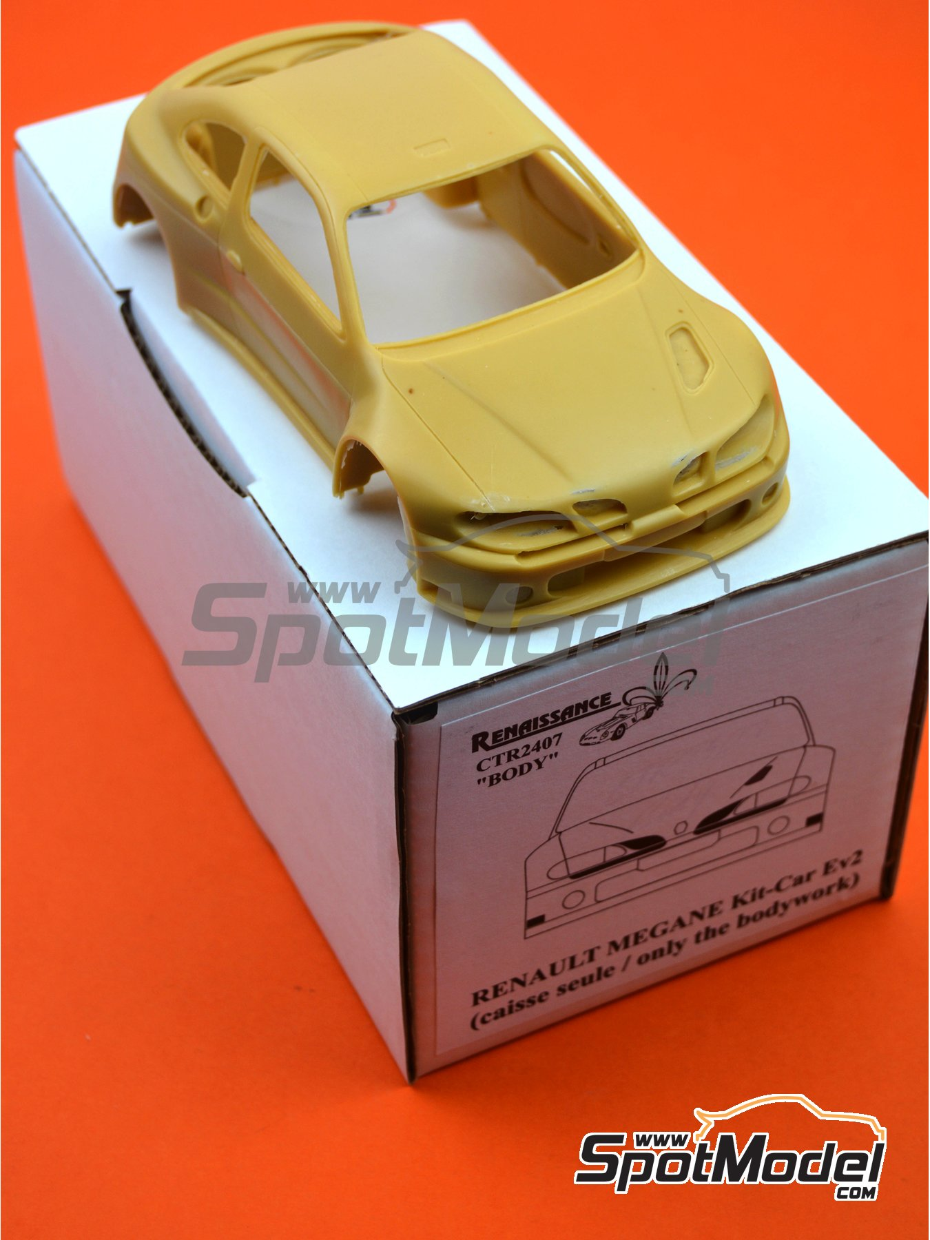 Renault Megane Maxi Kit Car | Bodywork in 1/24 scale manufactured by Renaissance Models (ref. CTR2407-BODY) image