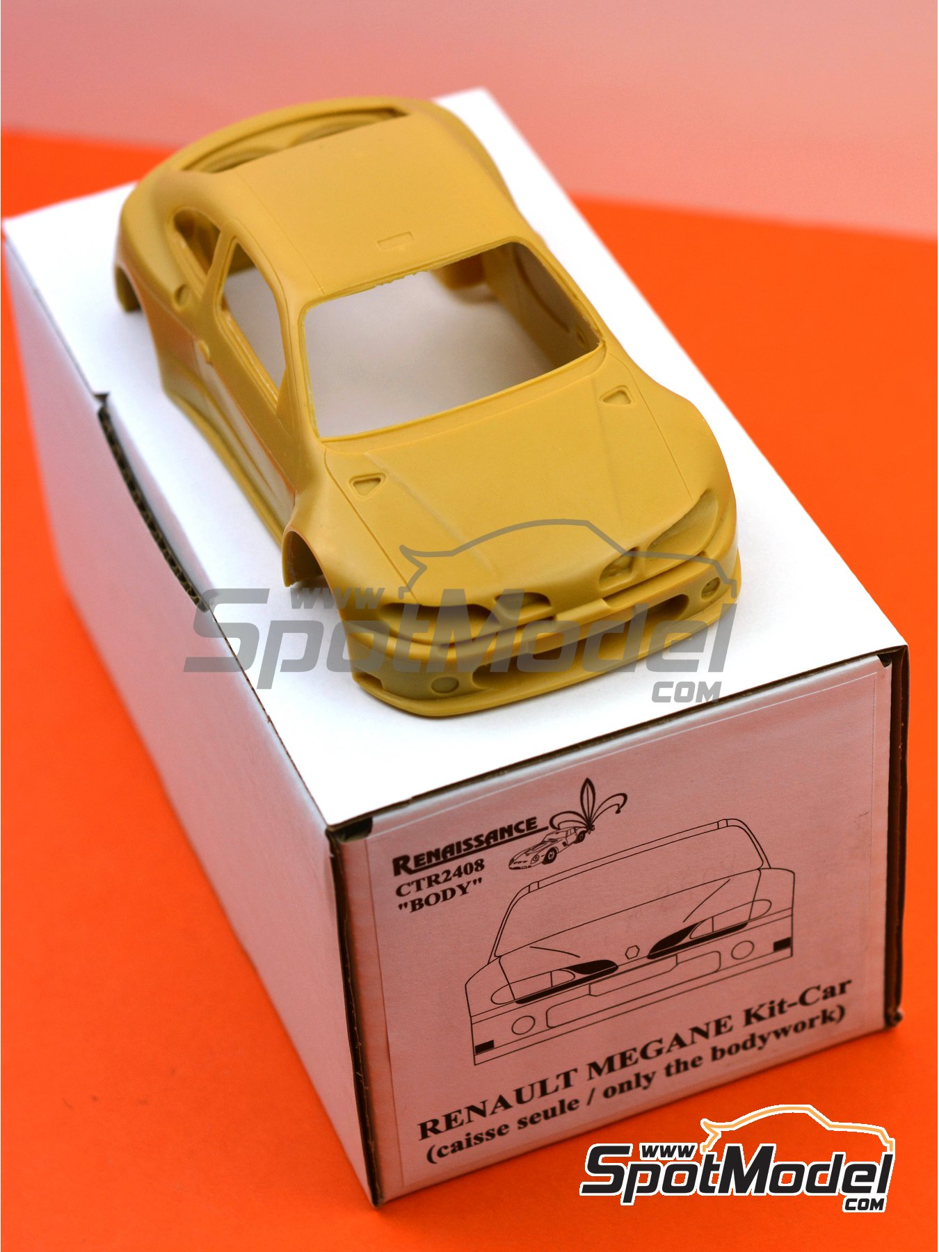 Renault Megane Kit-Car | Bodywork in 1/24 scale manufactured by Renaissance Models (ref. CTR2408-BODY) image