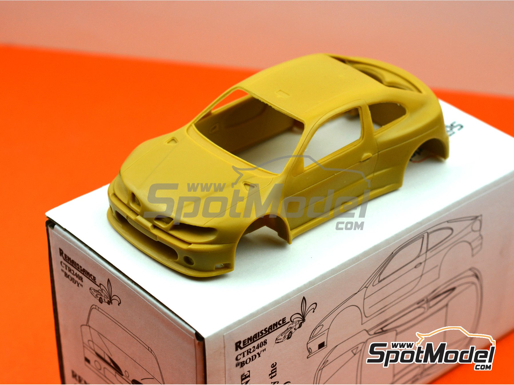 Image 2: Renault Megane Kit-Car | Bodywork in 1/24 scale manufactured by Renaissance Models (ref. CTR2408-BODY)