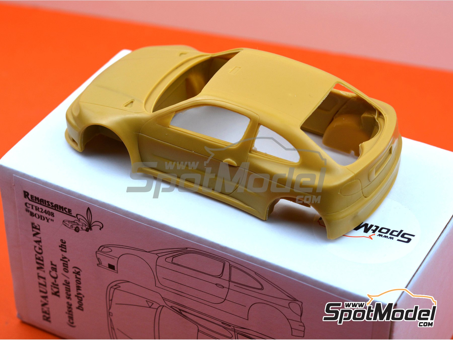 Image 3: Renault Megane Kit-Car | Bodywork in 1/24 scale manufactured by Renaissance Models (ref. CTR2408-BODY)