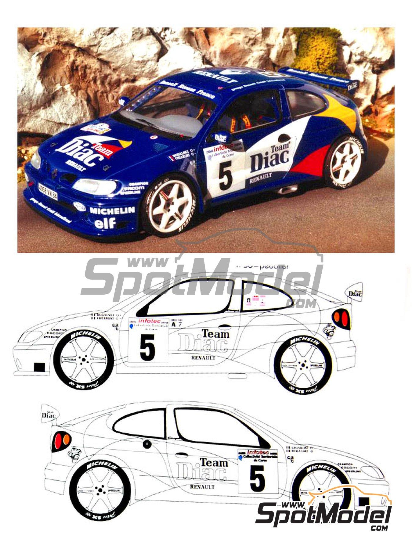 Renault Megane Maxi Diac - Tour de Corse 1996 | Model car kit in 1/24 scale manufactured by Renaissance Models (ref.CTR2408) image