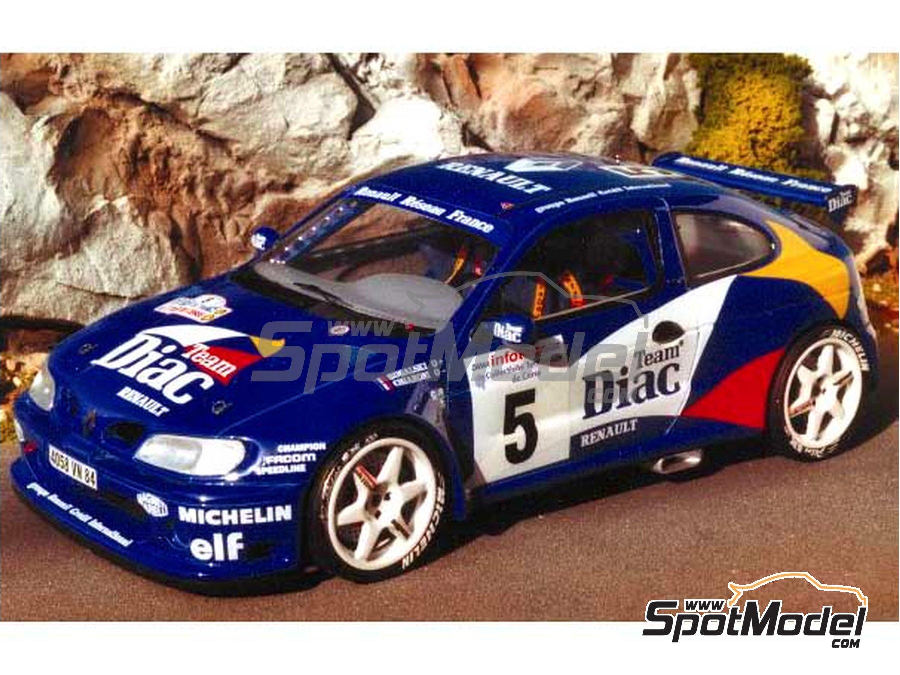Image 1: Renault Megane Maxi Diac - Tour de Corse 1996 | Model car kit in 1/24 scale manufactured by Renaissance Models (ref.CTR2408)