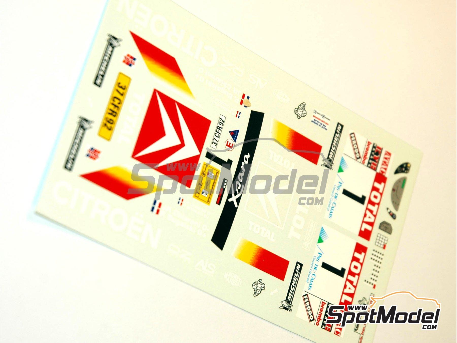 Image 3: Citroen Xsara T4 WRC -  2000 | Model car kit in 1/24 scale manufactured by Renaissance Models (ref.CTR2409)