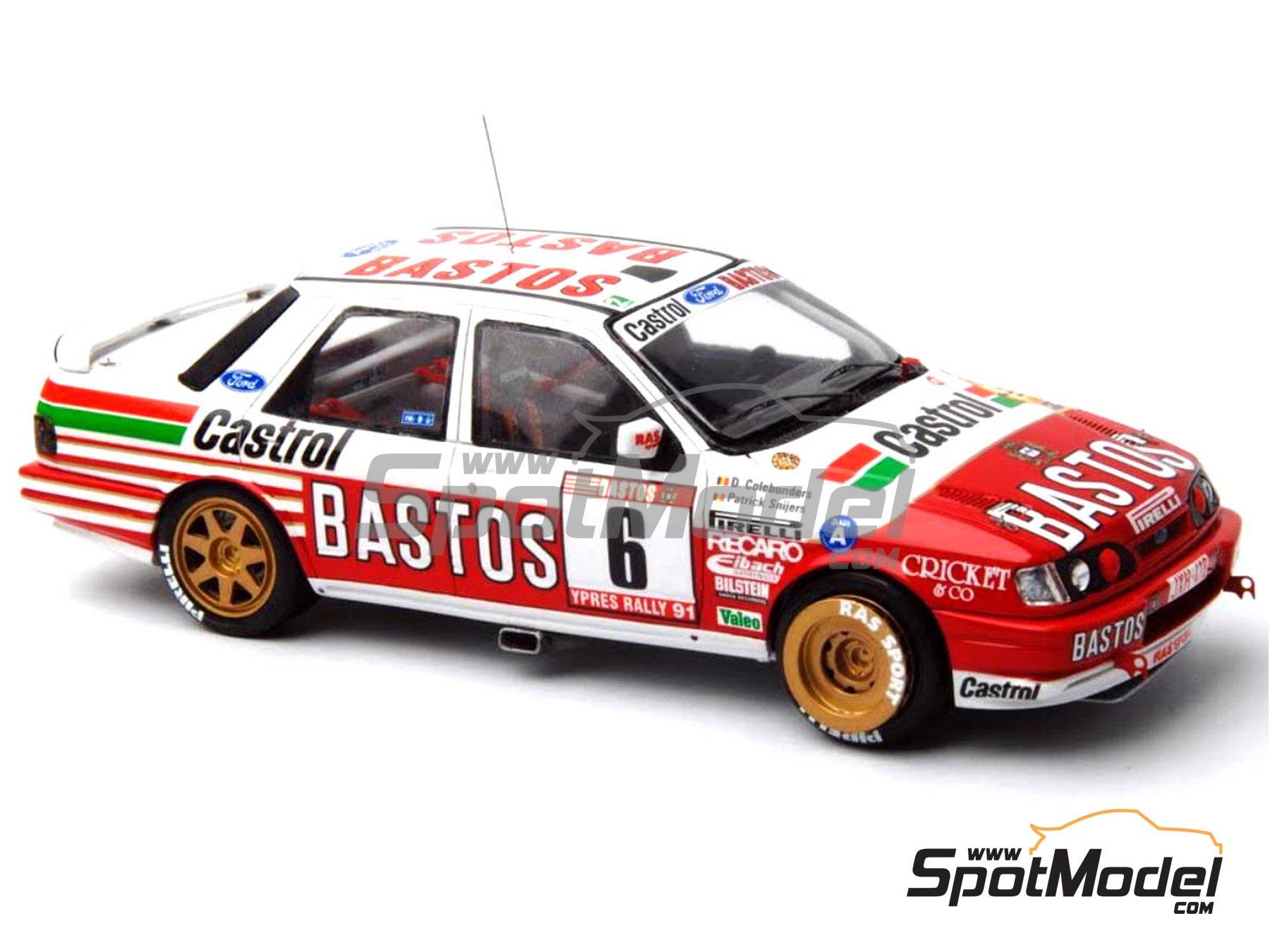 Image 15: Ford Sierra Cosworth 4x4 Grupo A Bastos Castrol - Rally de Ypres de Belgica, Rallye Critérium des Cévennes 1991 | Maqueta de coche en escala1/24 fabricado por Renaissance Models (ref.CTR2424)