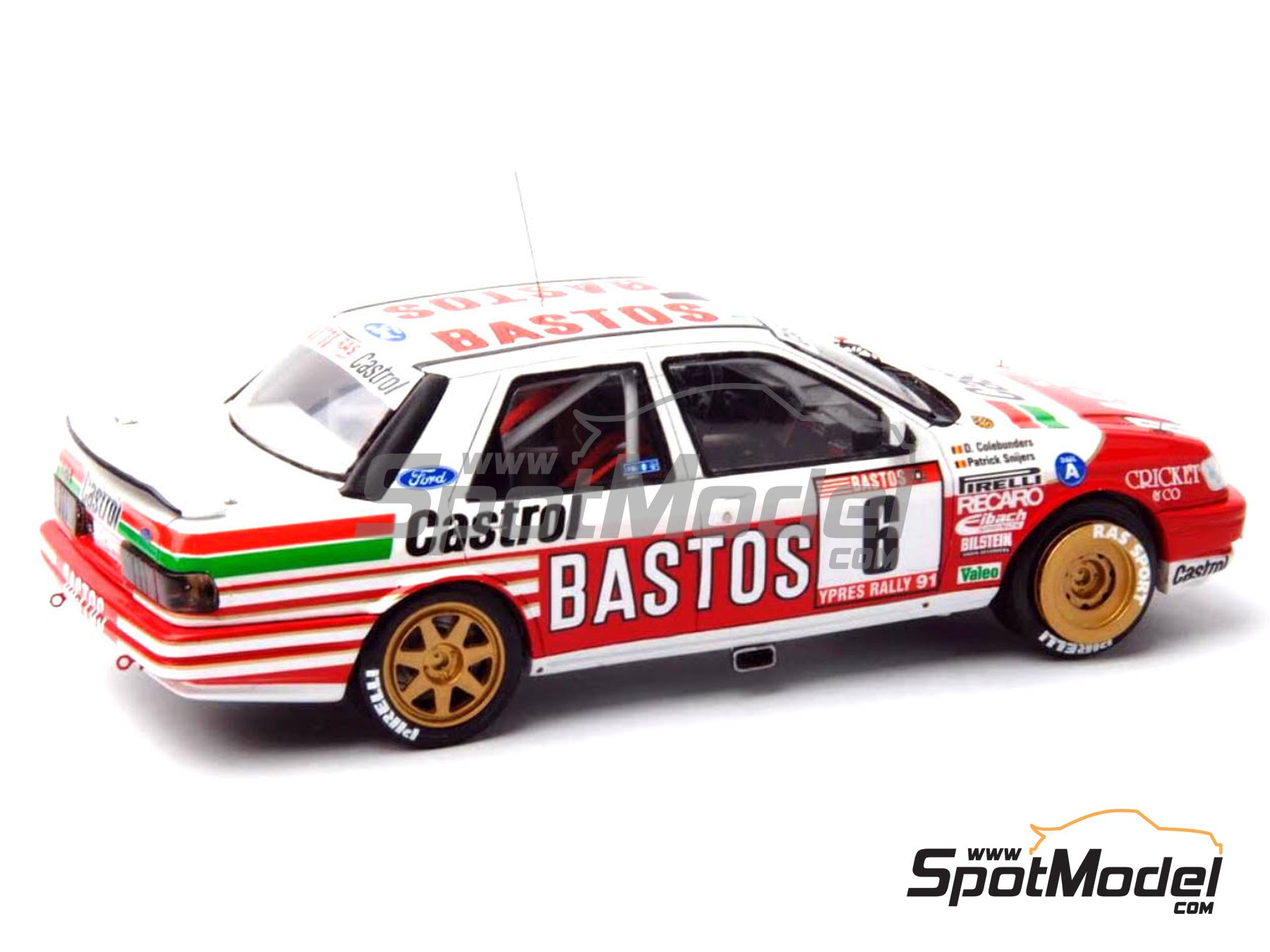 Image 16: Ford Sierra Cosworth 4x4 Group A Bastos Castrol - Ypres Rally, Rallye Critérium des Cévennes 1991 | Model car kit in 1/24 scale manufactured by Renaissance Models (ref. CTR2424, also CTR2424/BODY)